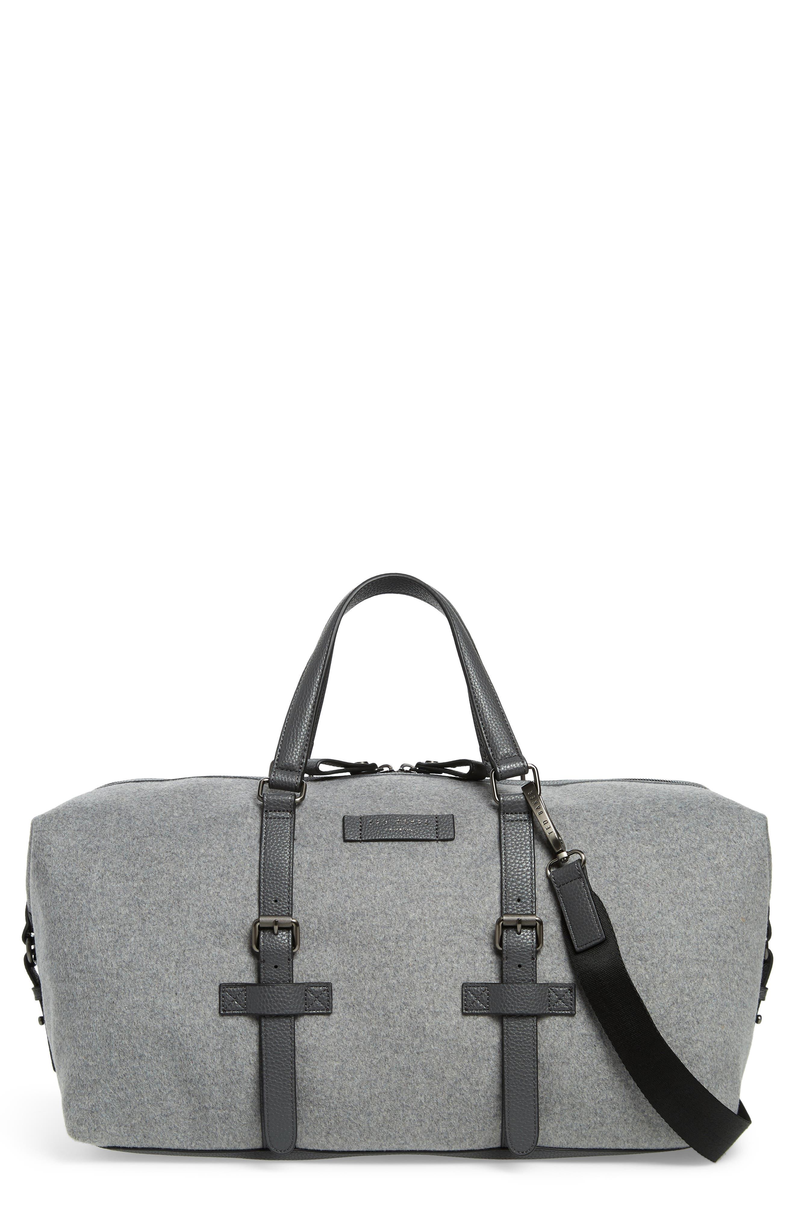 Knitts Duffel Bag,                         Main,                         color, GREY