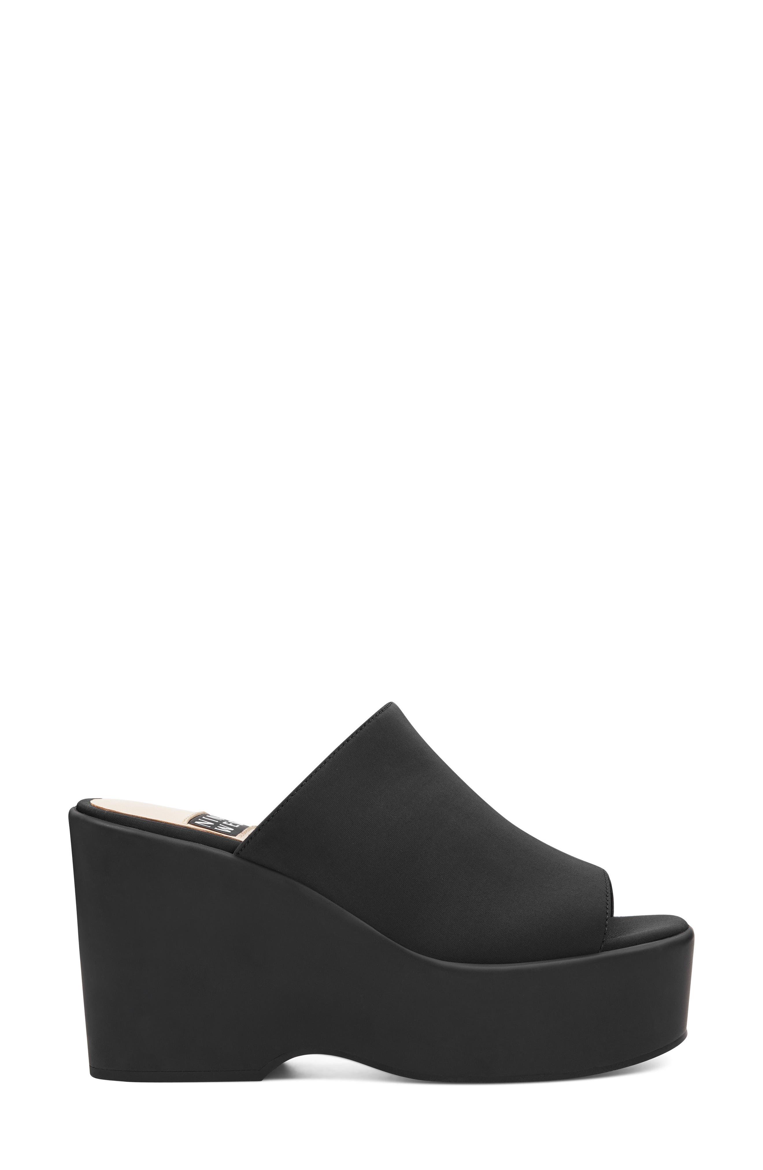Tomo - 40th Anniversary Capsule Collection Platform Sandal,                             Alternate thumbnail 3, color,                             BLACK FABRIC