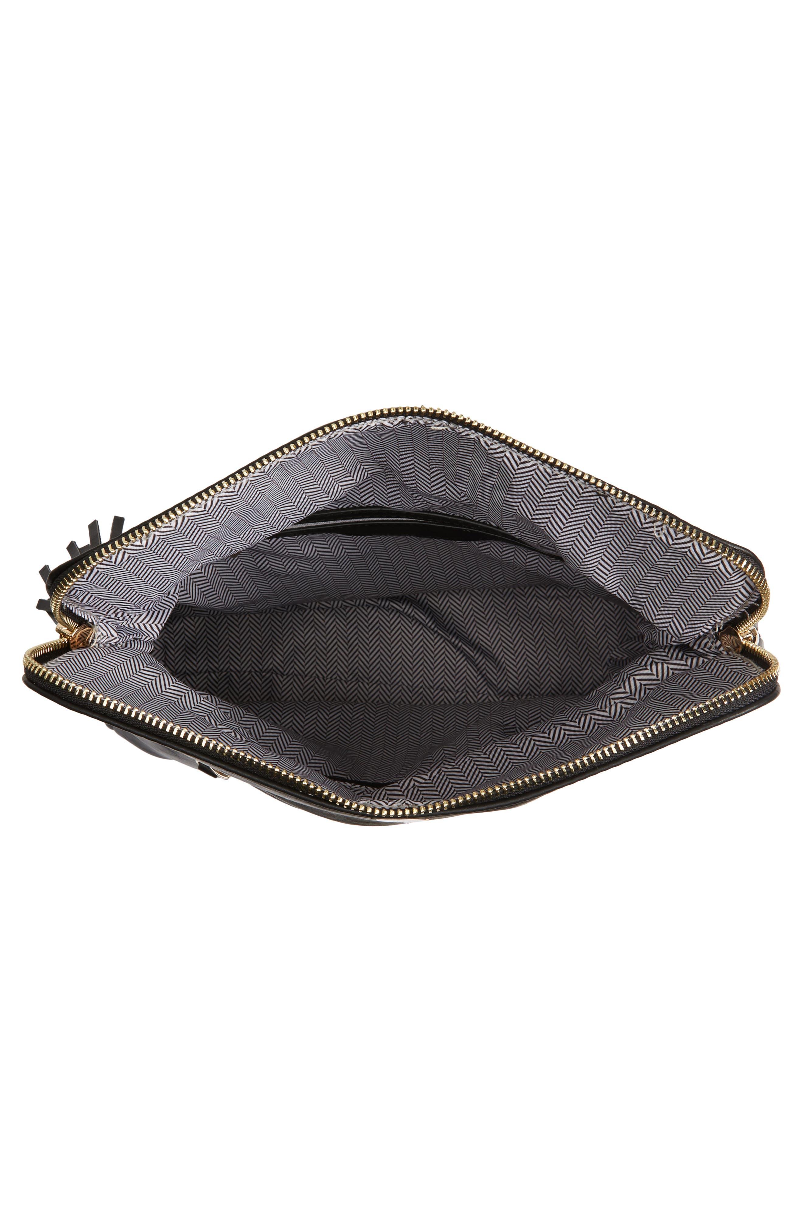 Foldover Crossbody Bag,                             Alternate thumbnail 5, color,                             001
