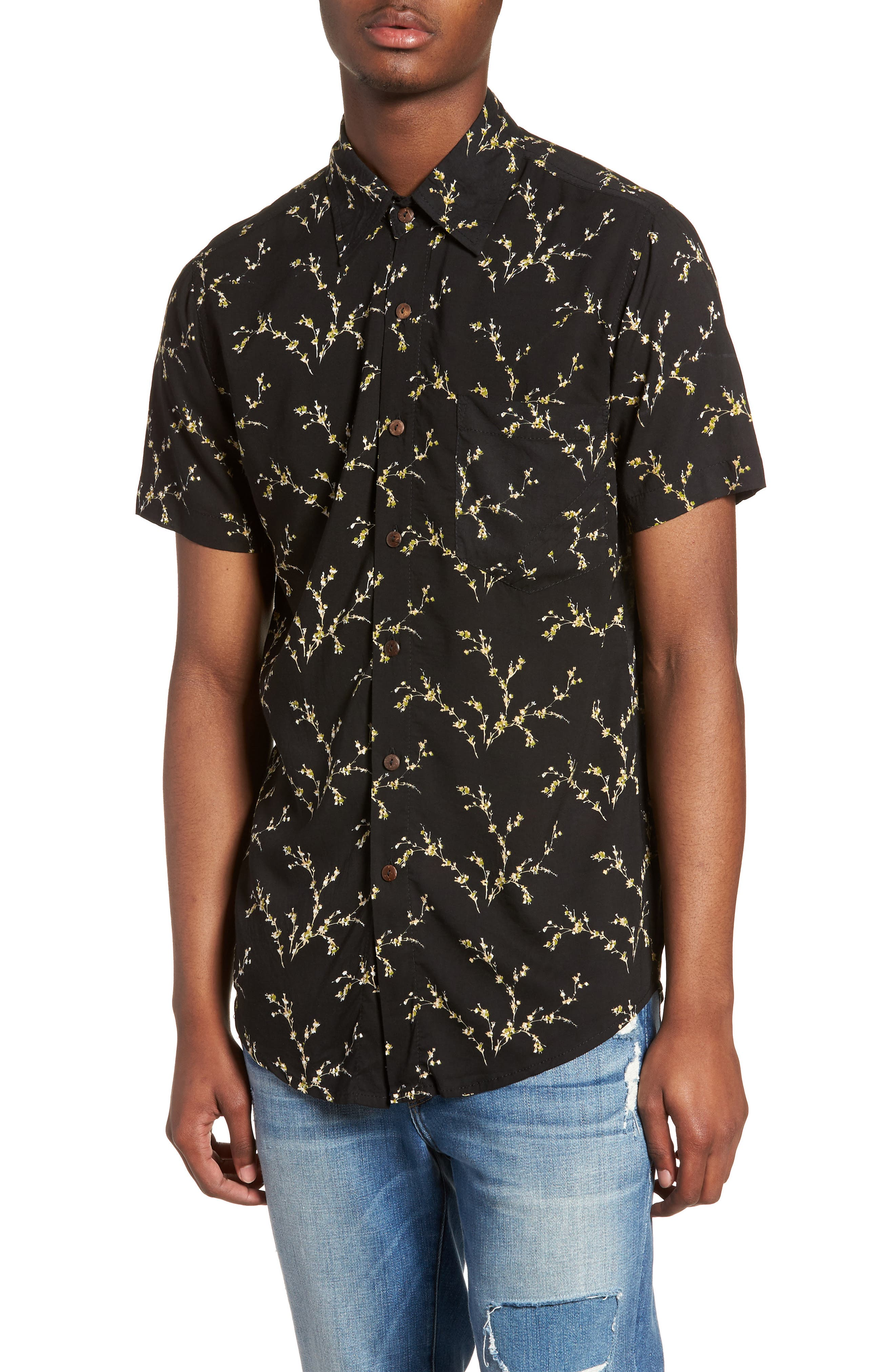 THE PEOPLE VS  Stevie Woven Shirt, Main, color, 001