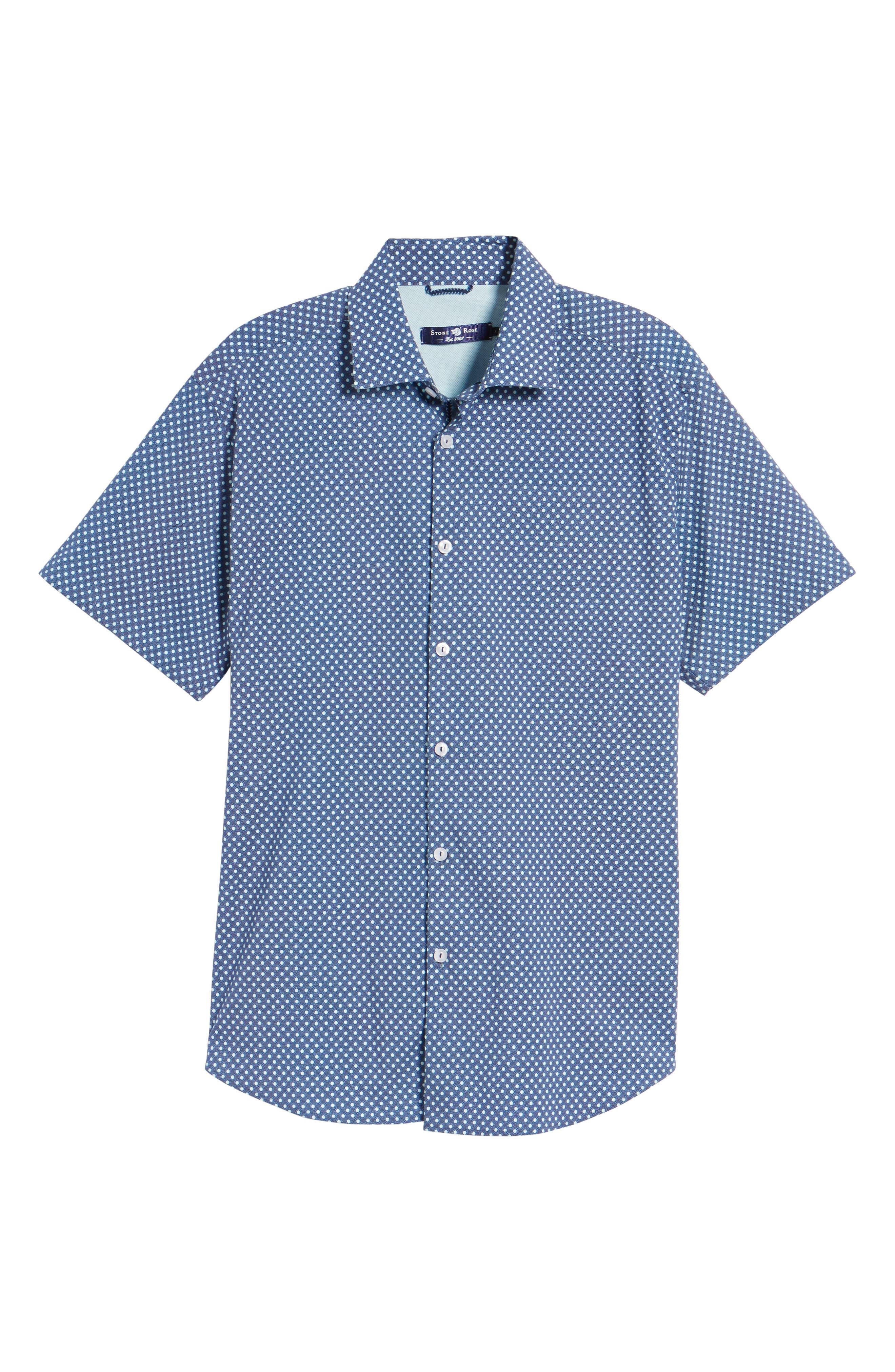 Woven Sport Shirt,                             Alternate thumbnail 6, color,                             NAVY