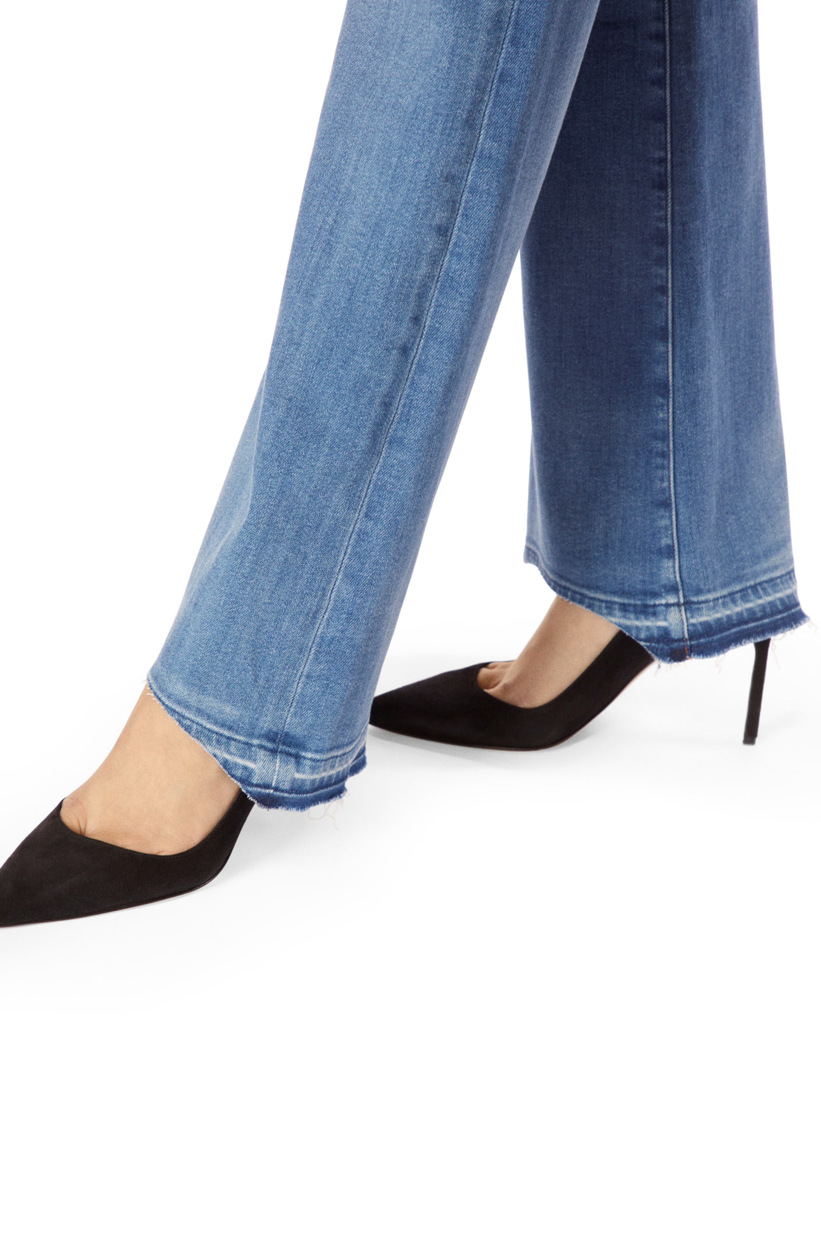 Sallie Release Hem Bootcut Jeans,                             Alternate thumbnail 4, color,                             RADIATE