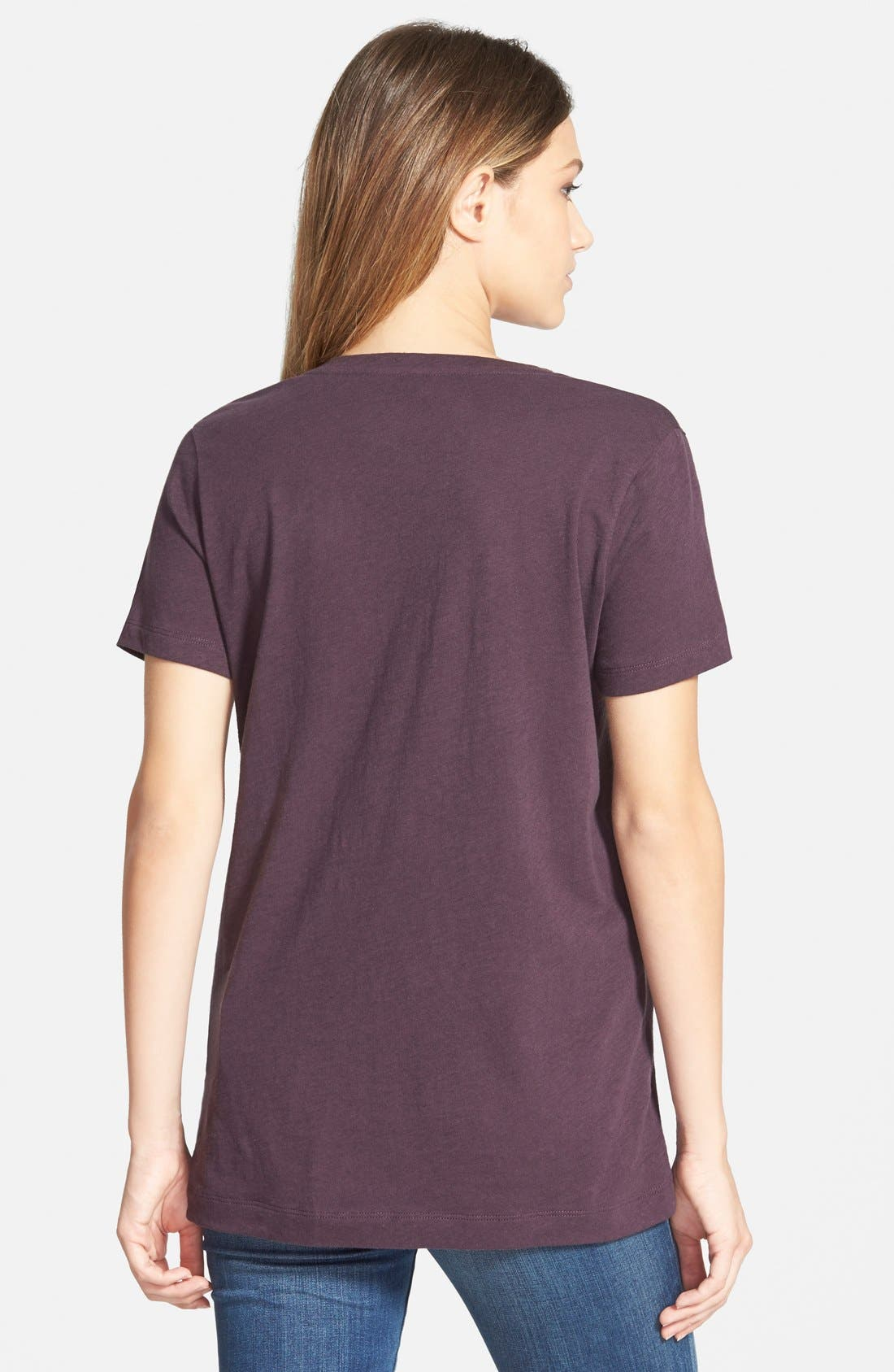 Whisper Cotton V-Neck Pocket Tee,                             Alternate thumbnail 97, color,