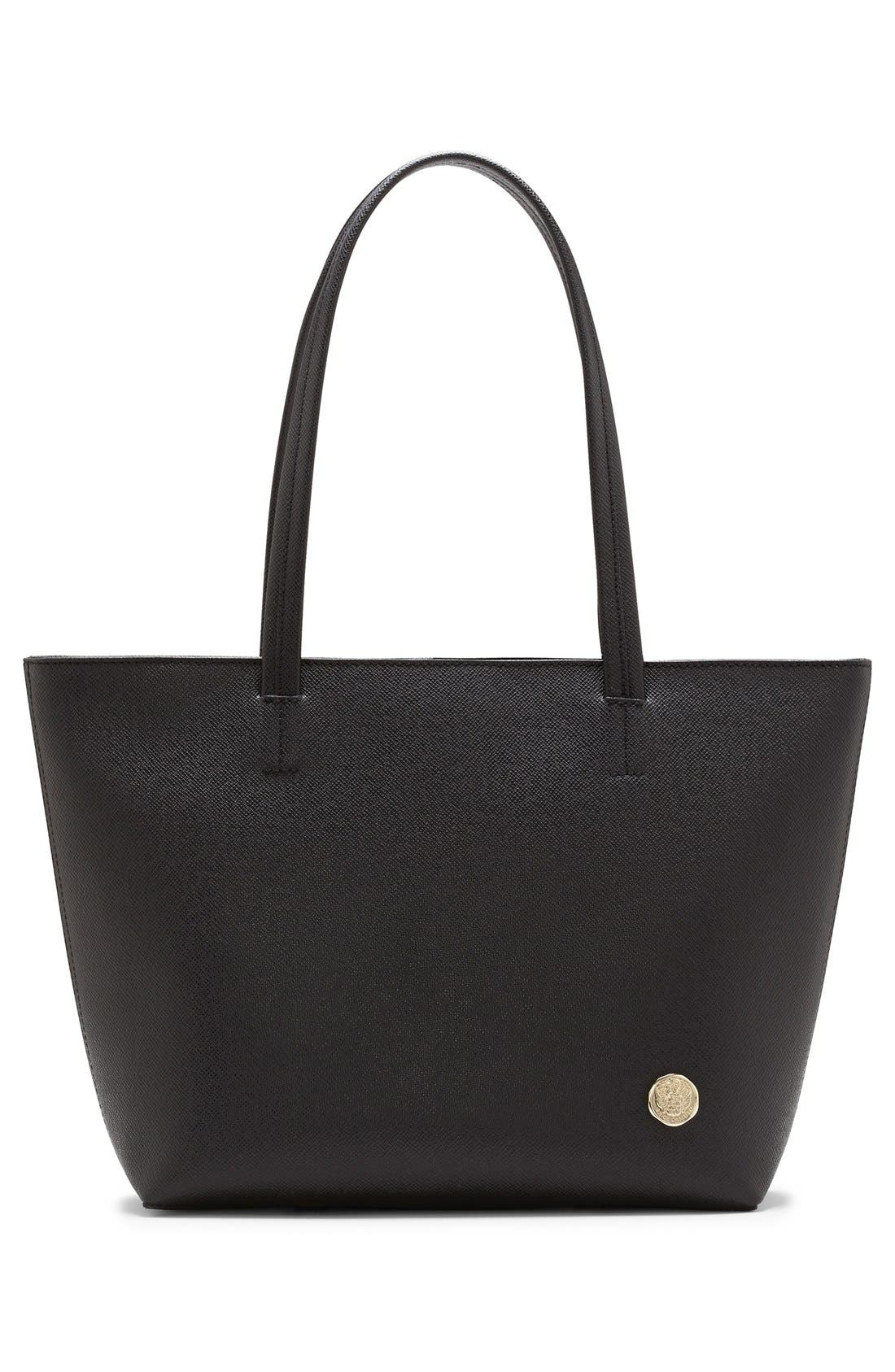 'Leila - Small' Leather Tote,                             Alternate thumbnail 2, color,                             001