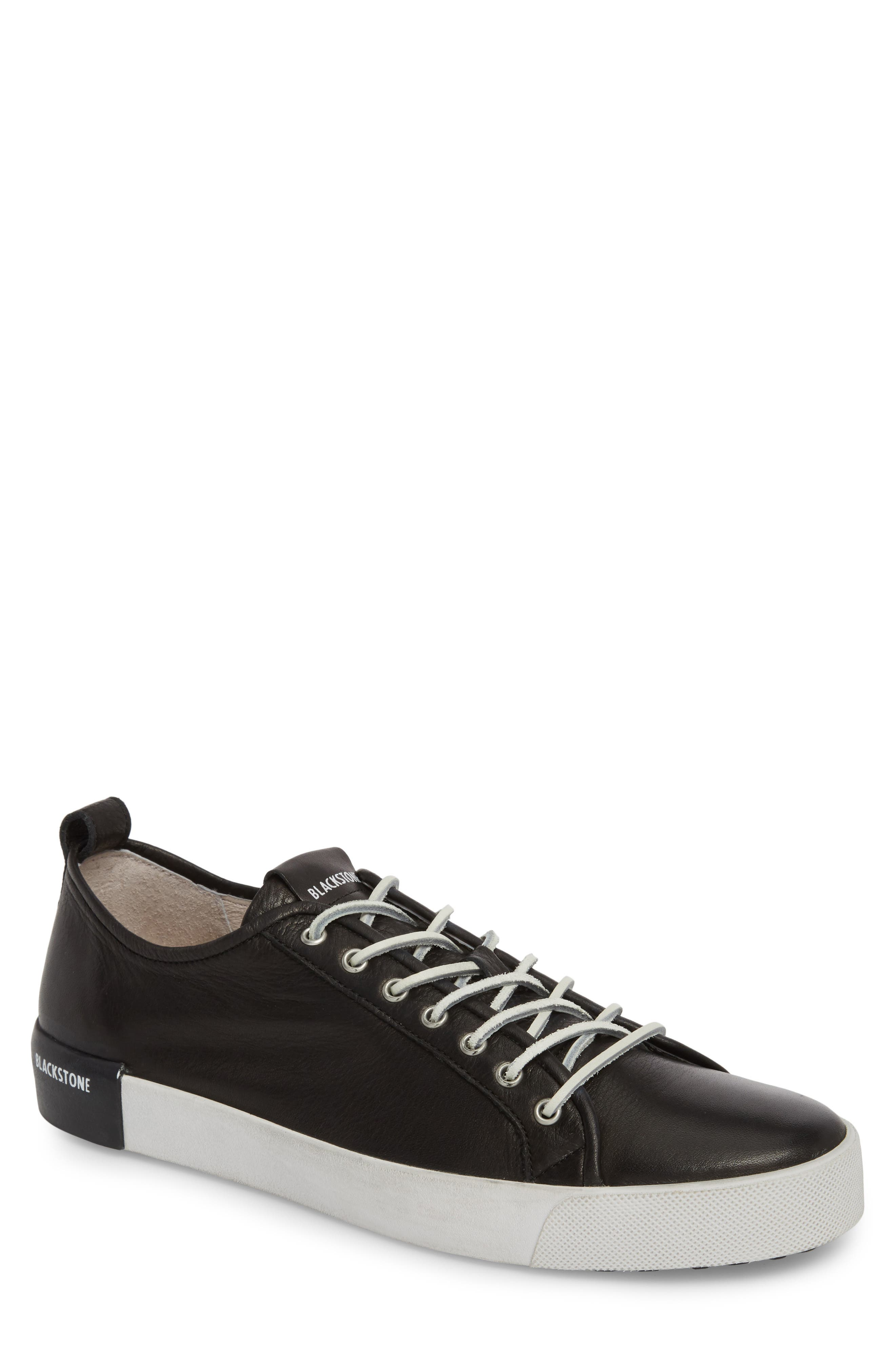 PM66 Low Top Sneaker,                             Main thumbnail 1, color,                             BLACK LEATHER