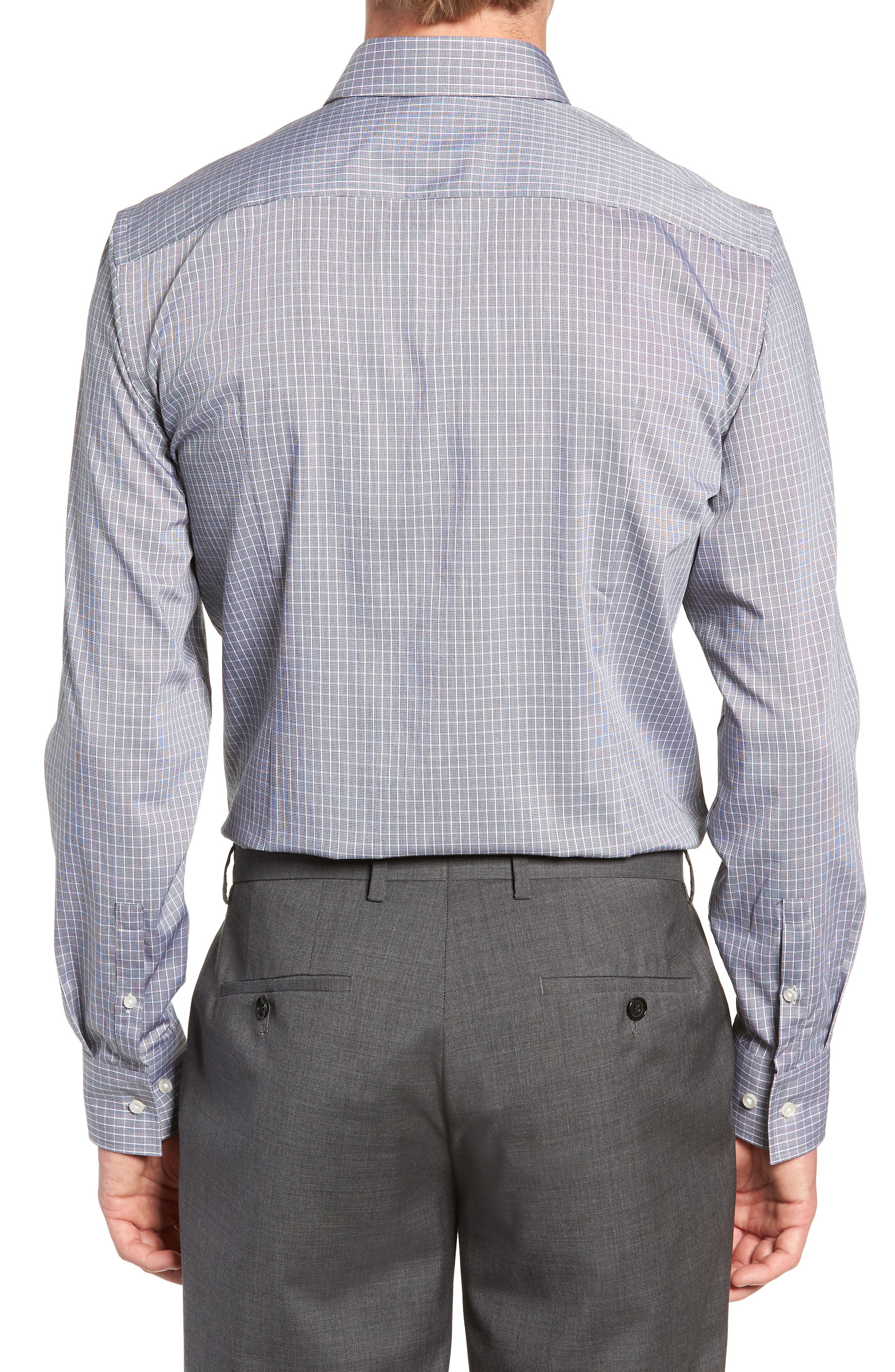 Jenno Trim Fit Check Dress Shirt,                             Alternate thumbnail 3, color,                             003