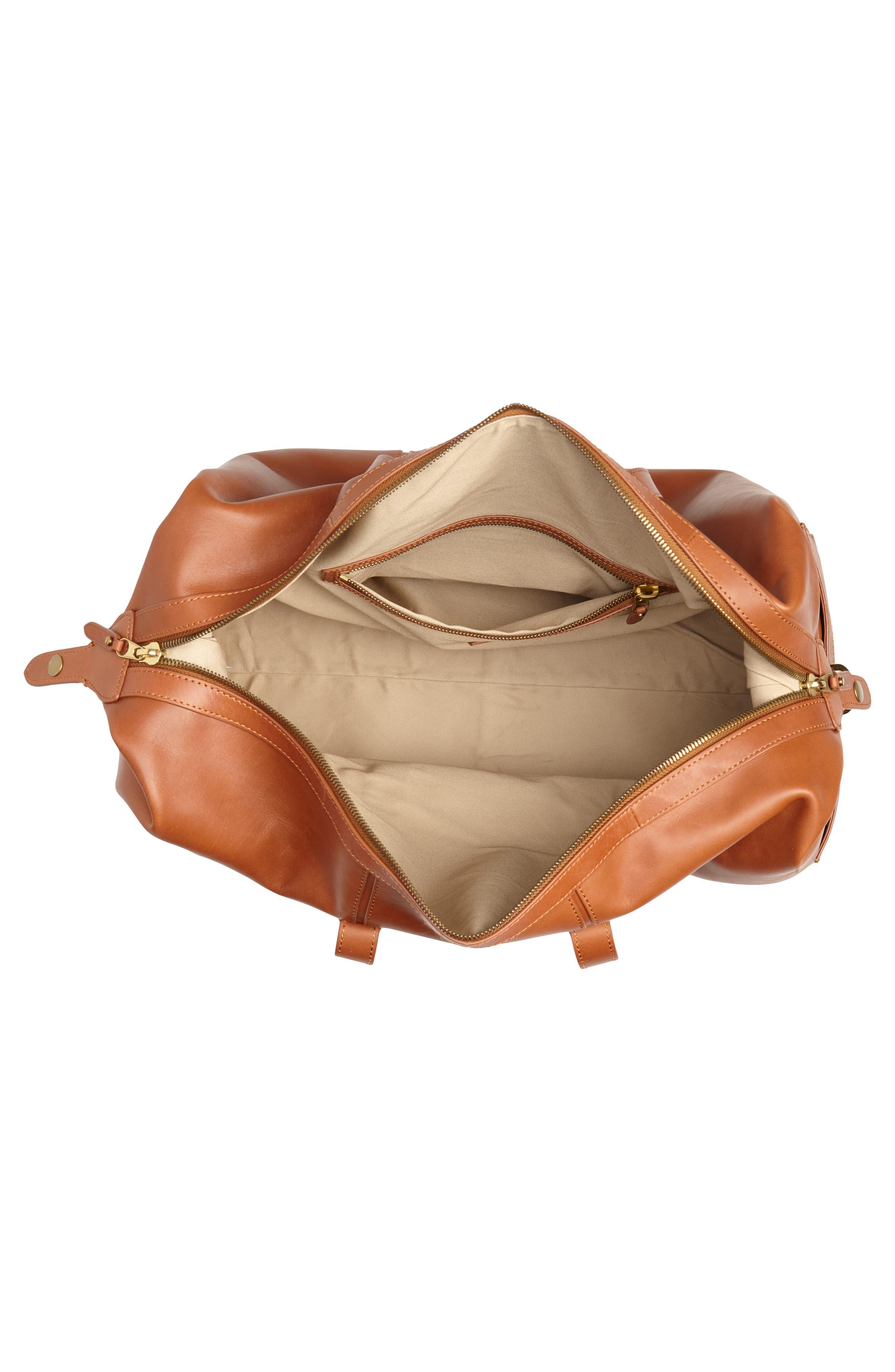 Oar Stripe Weekend Bag,                             Alternate thumbnail 4, color,                             BURNISHED SIENNA