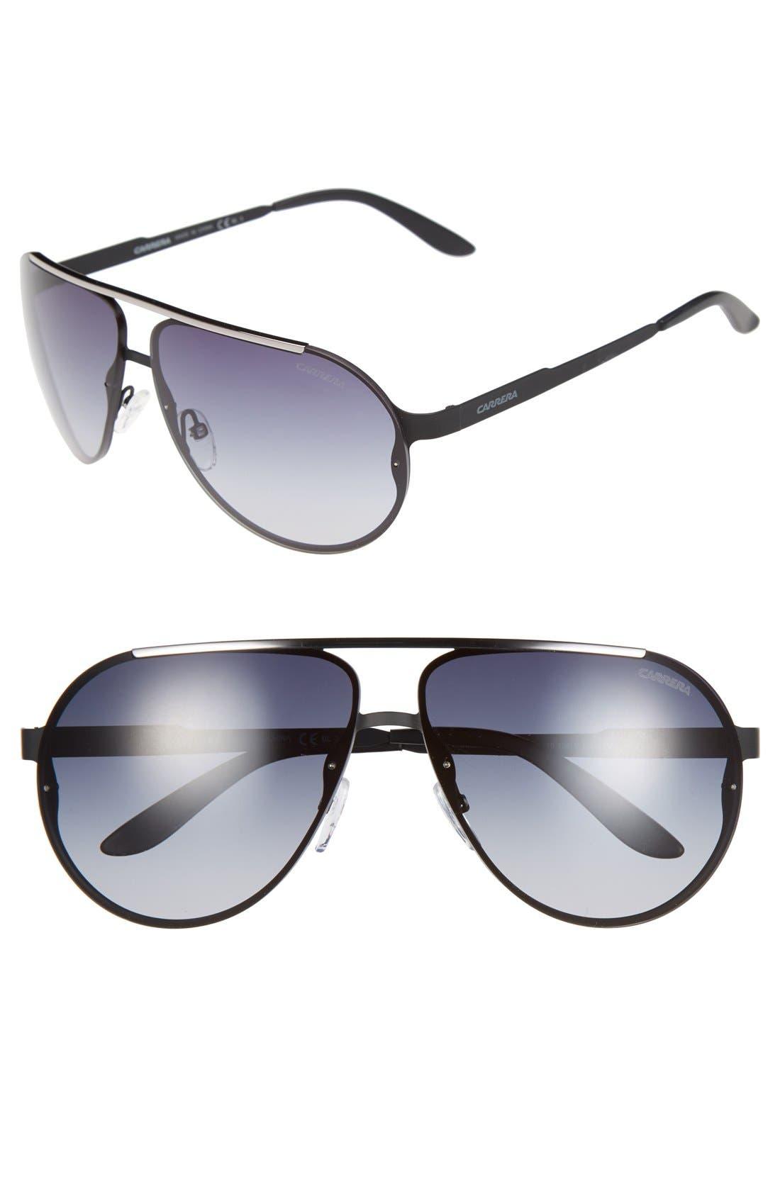 65mm Aviator Sunglasses,                             Main thumbnail 2, color,