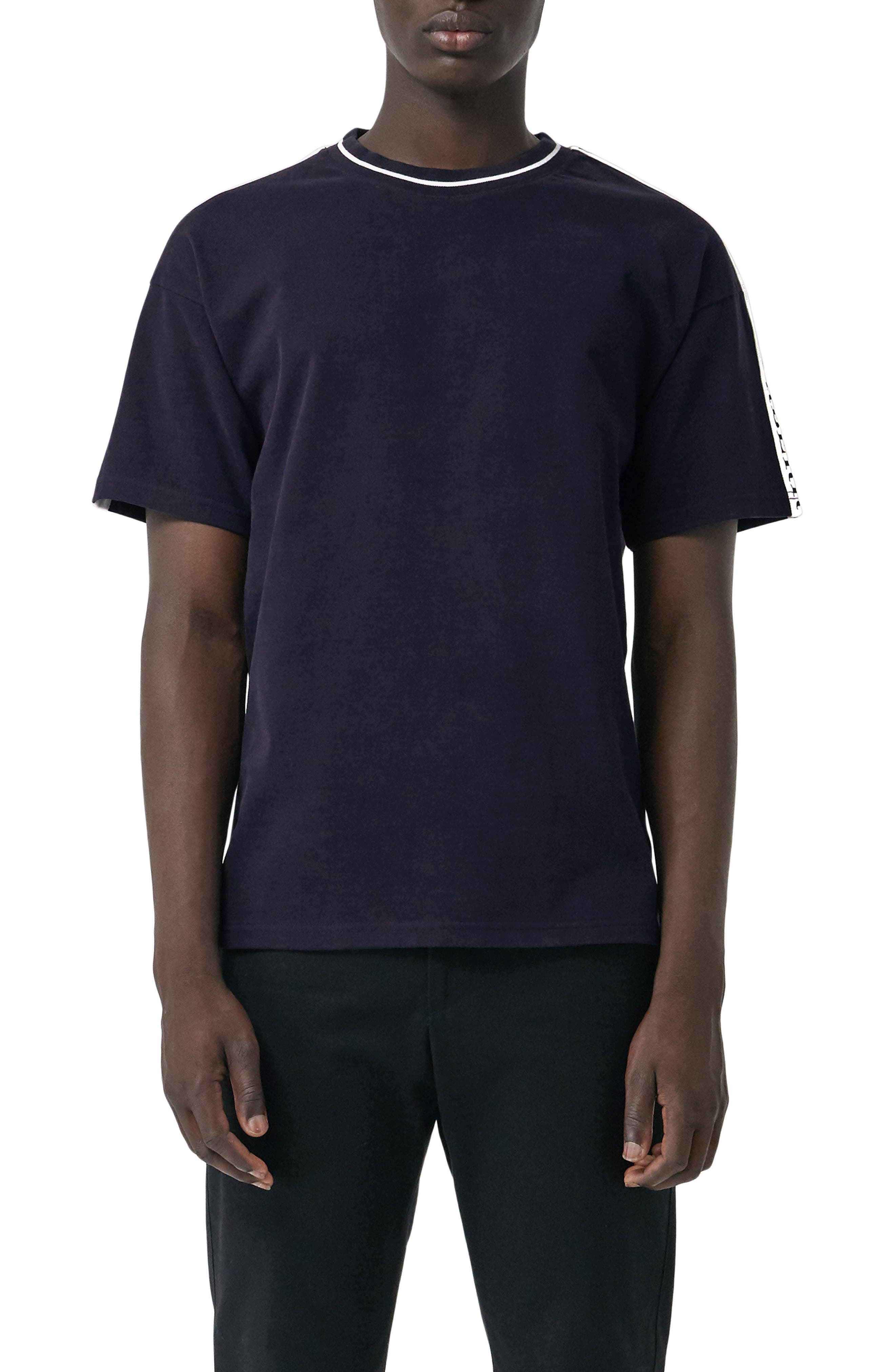 Roedon Tape T-Shirt,                         Main,                         color, DARK NAVY