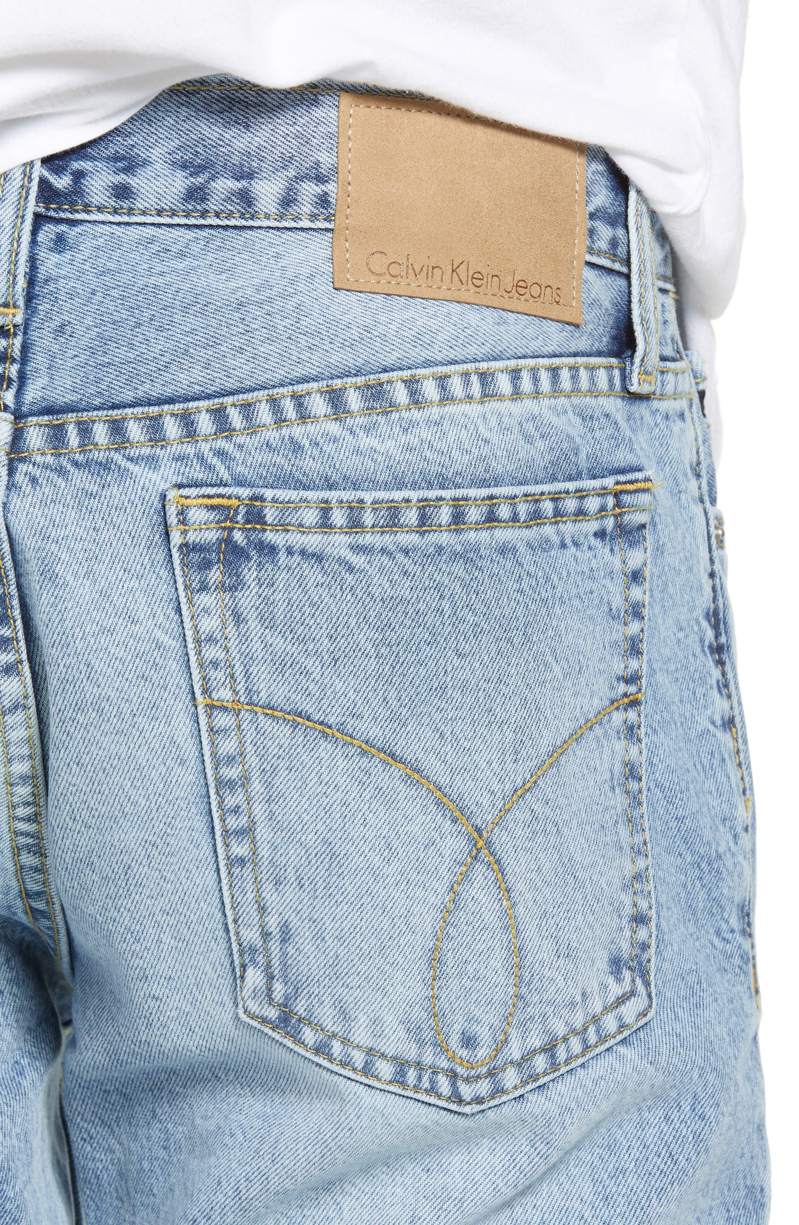 Straight Tapered Leg Jeans,                             Alternate thumbnail 4, color,                             400