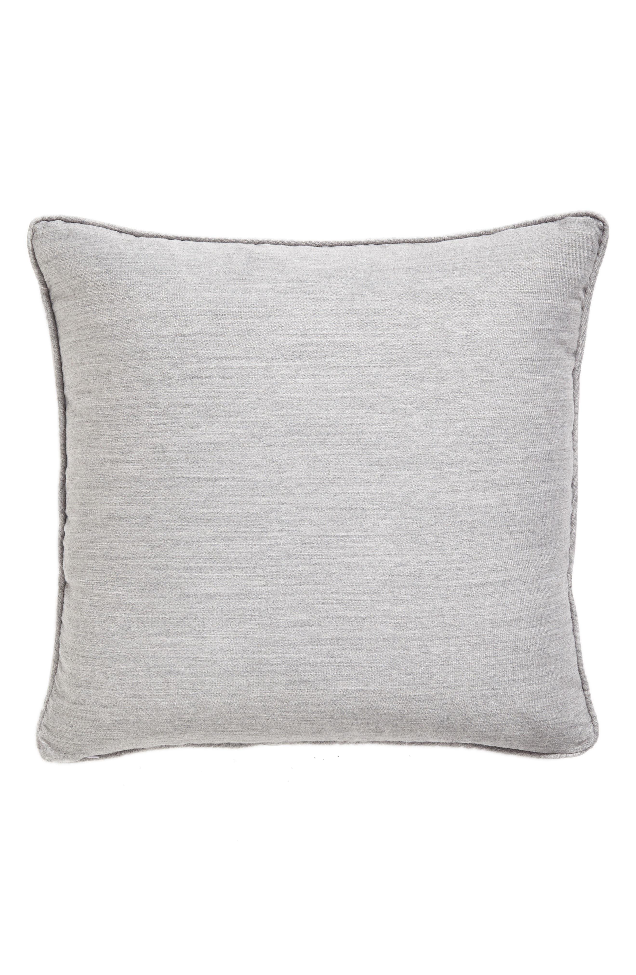 Brione Accent Pillow,                             Main thumbnail 1, color,                             ALUMINUM