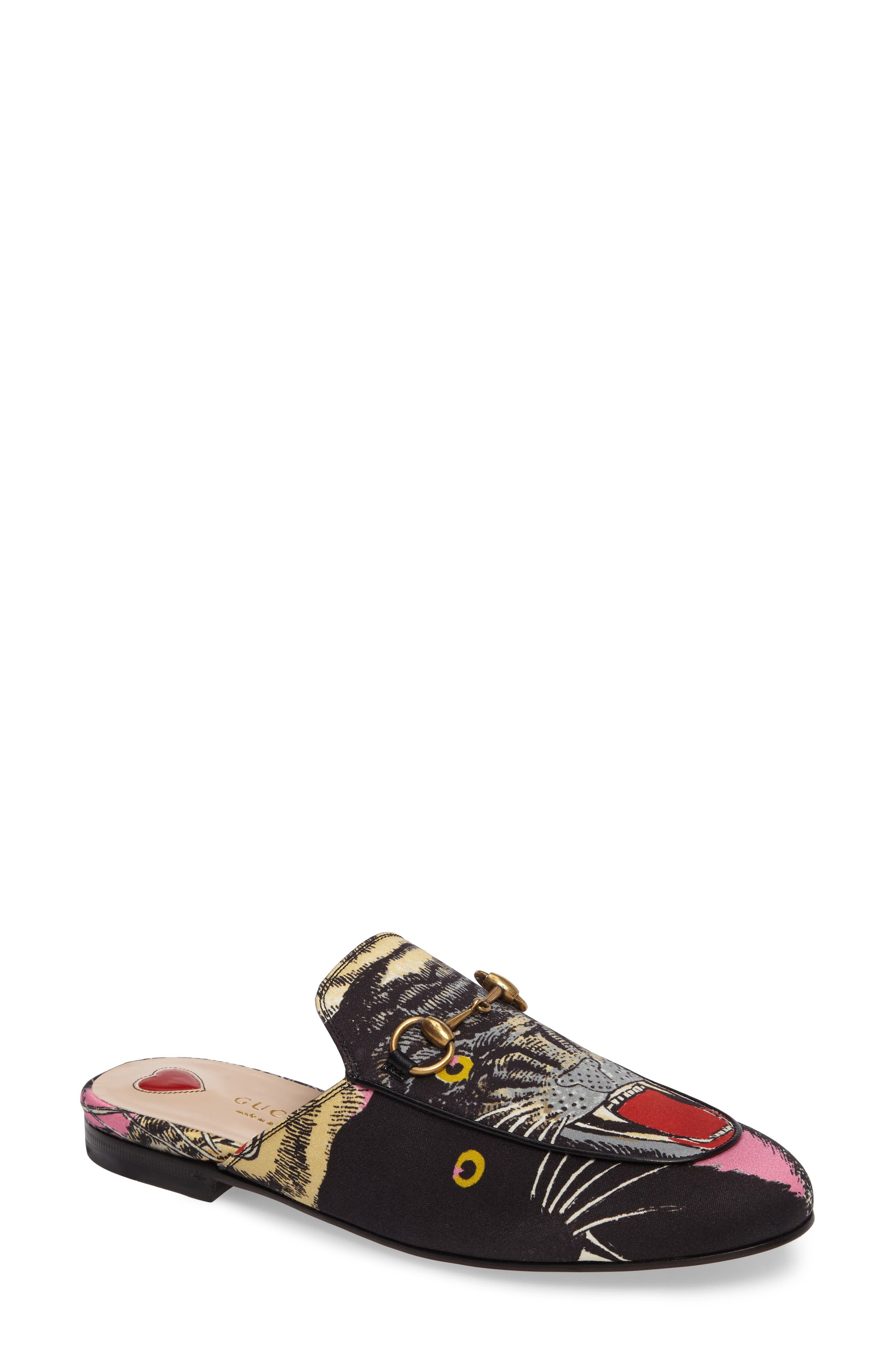 Princetown Angry Cat Mule Loafer,                             Main thumbnail 1, color,                             002