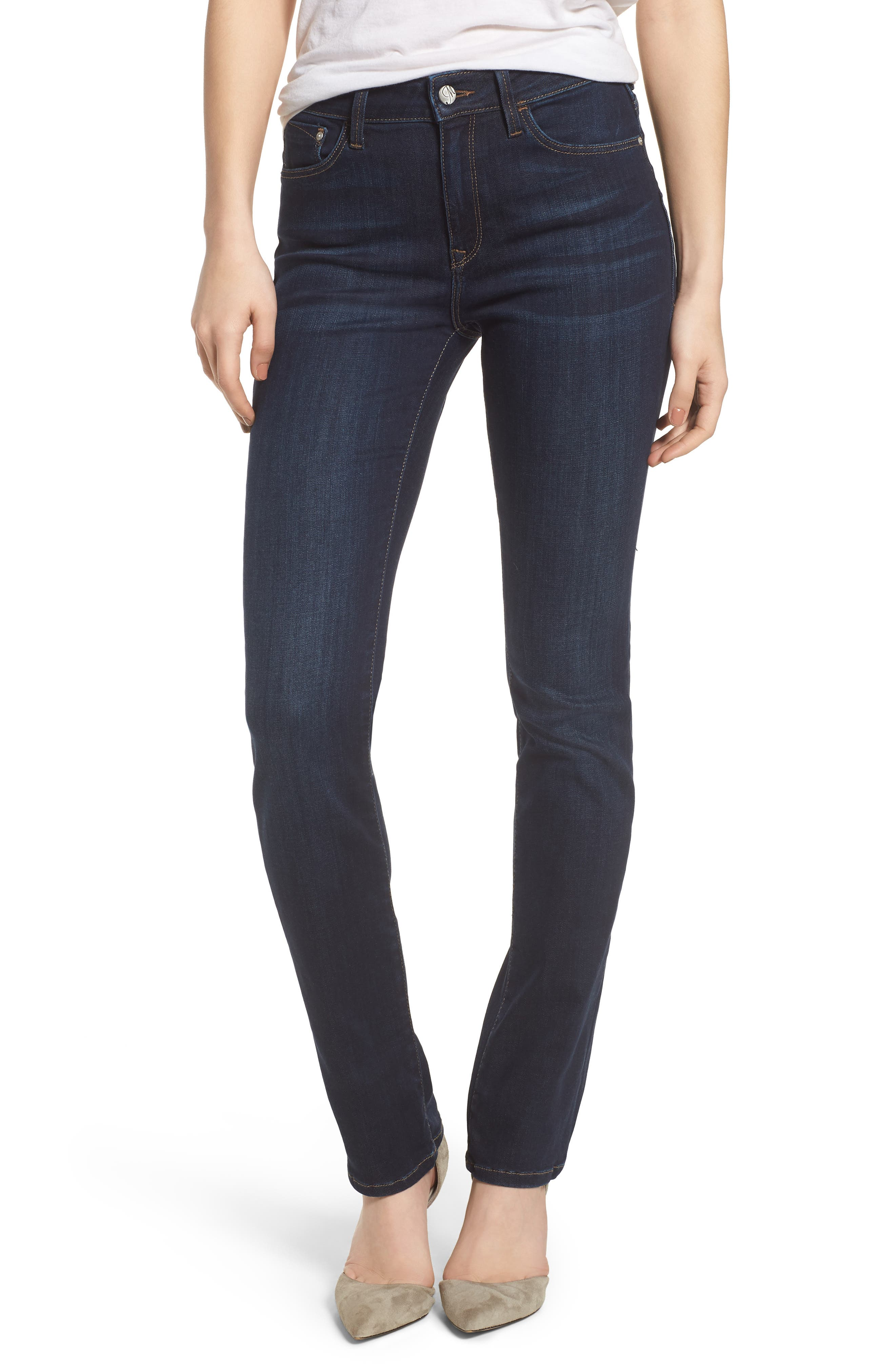Kendra Straight Leg Jeans,                         Main,                         color, DEEP SUPERSOFT