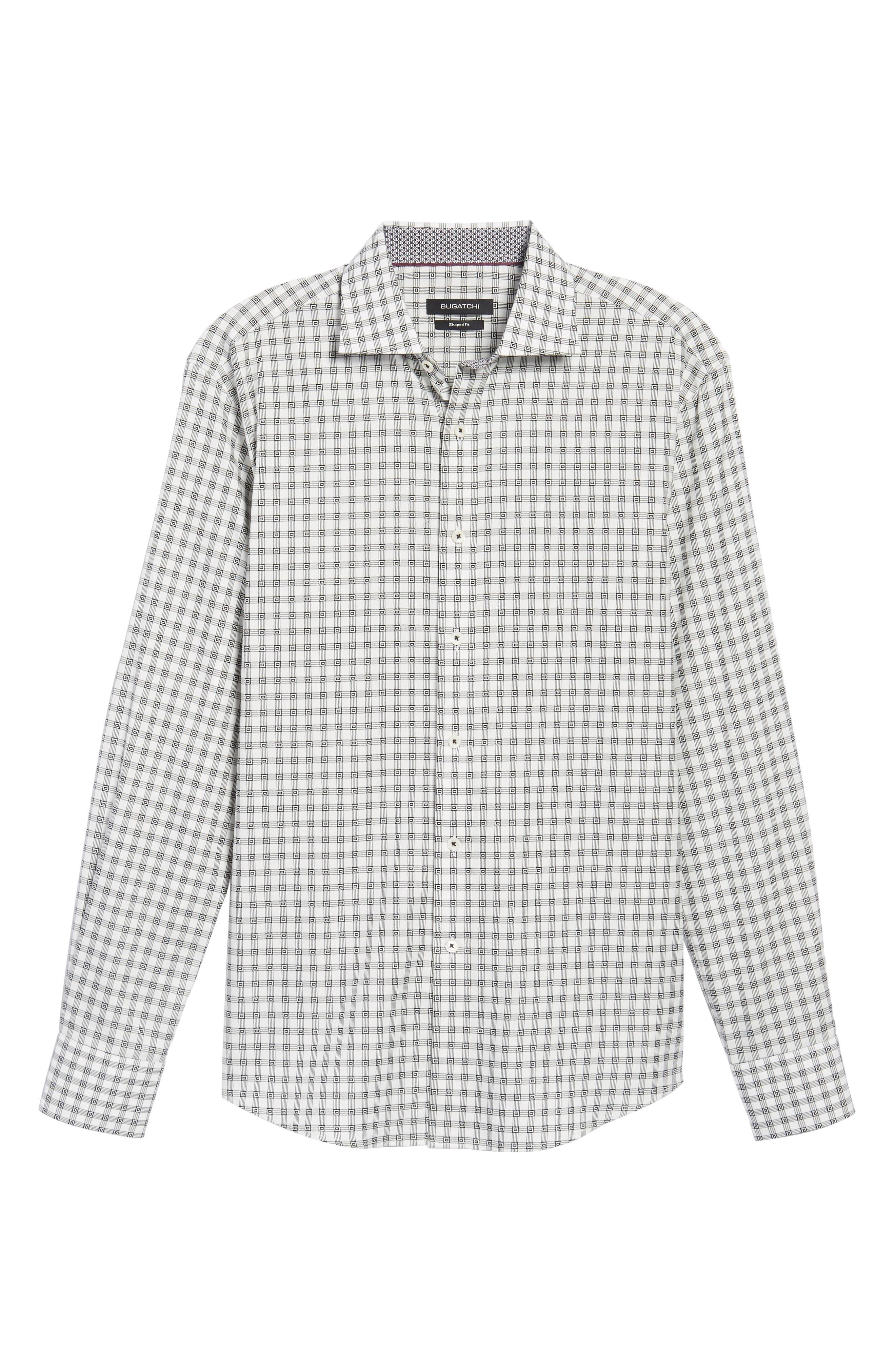 Shaped Fit Check Sport Shirt,                             Alternate thumbnail 6, color,                             020