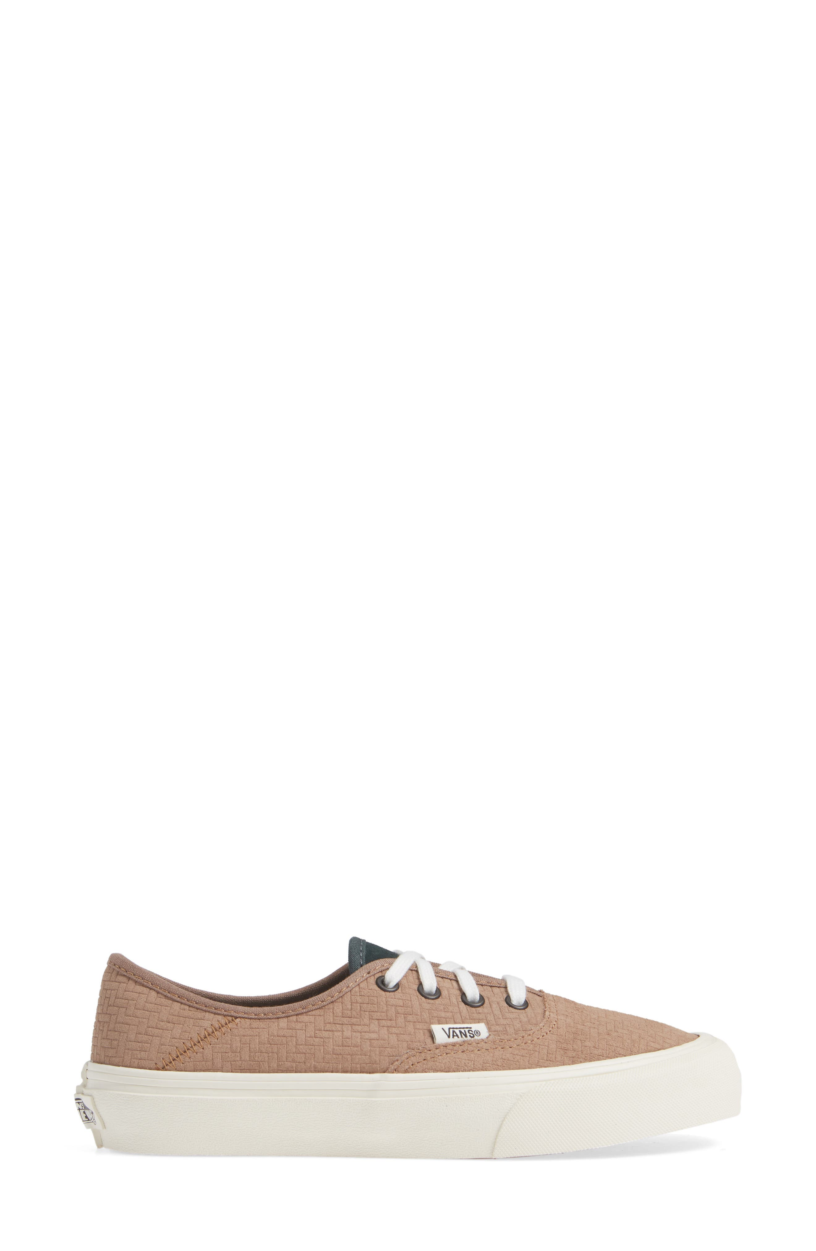 UA Authentic SF Collapsible Heel Sneaker,                             Alternate thumbnail 3, color,                             WOODSMOKE/ DARKEST SPRUCE