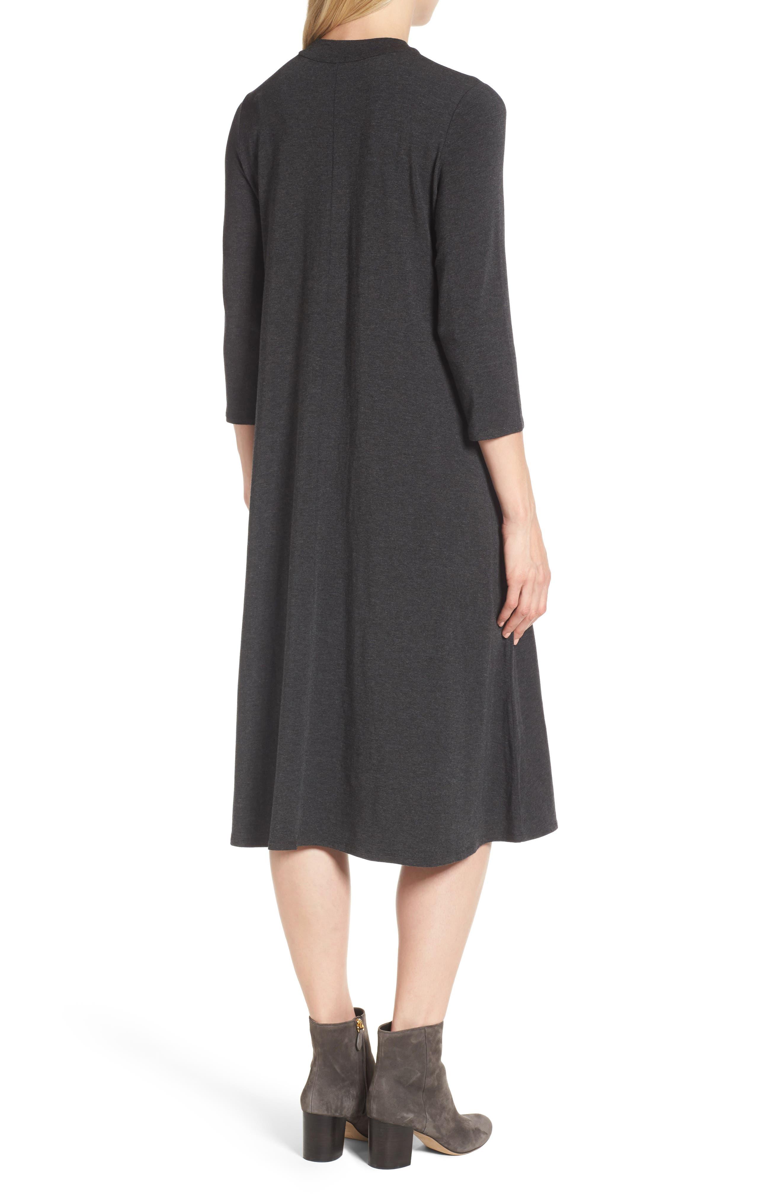 Stretch Tencel<sup>®</sup> Lyocell Midi Dress,                             Alternate thumbnail 2, color,                             021