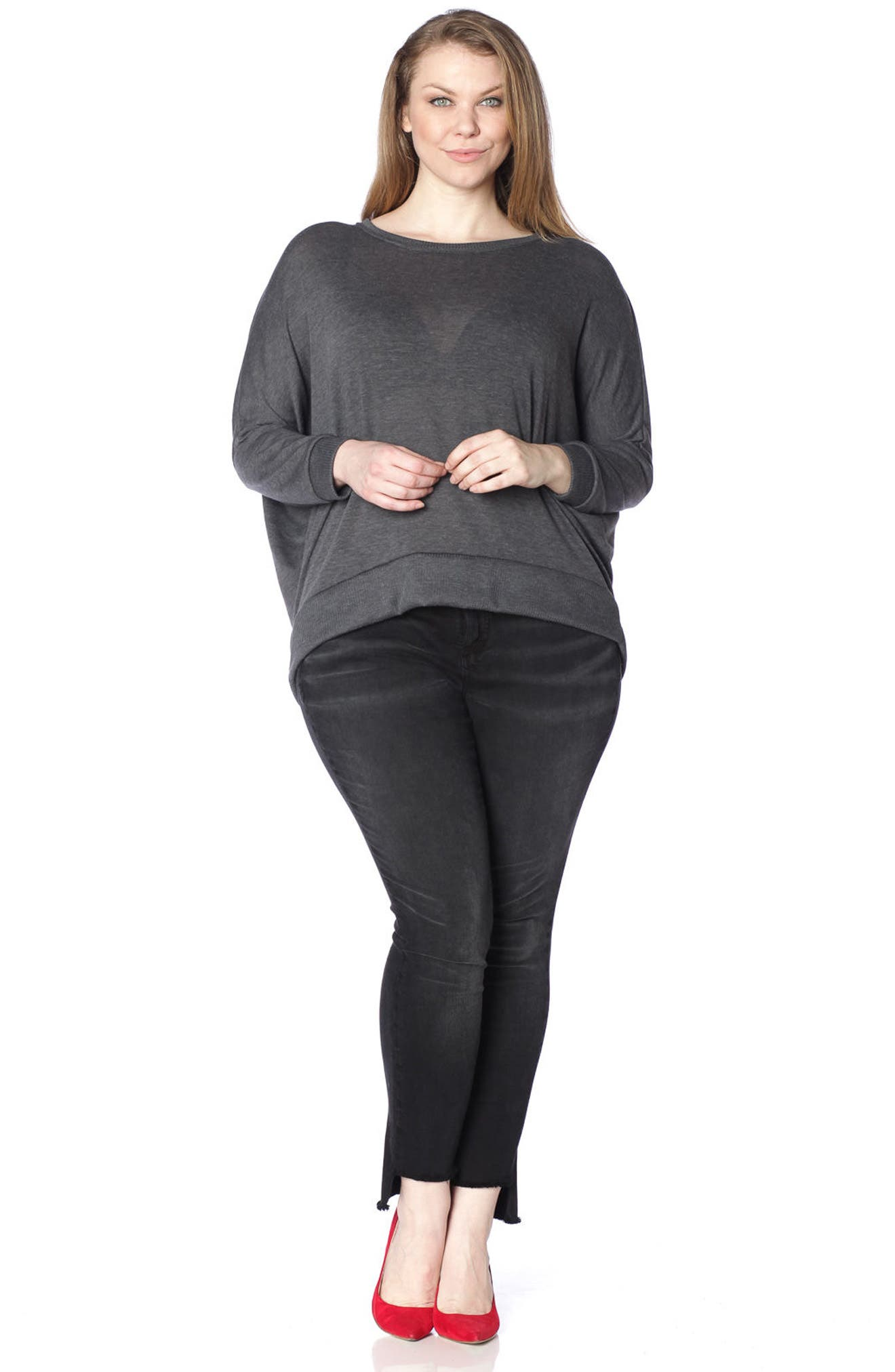 Dolman Sleeve Ribbed Pullover,                             Alternate thumbnail 14, color,