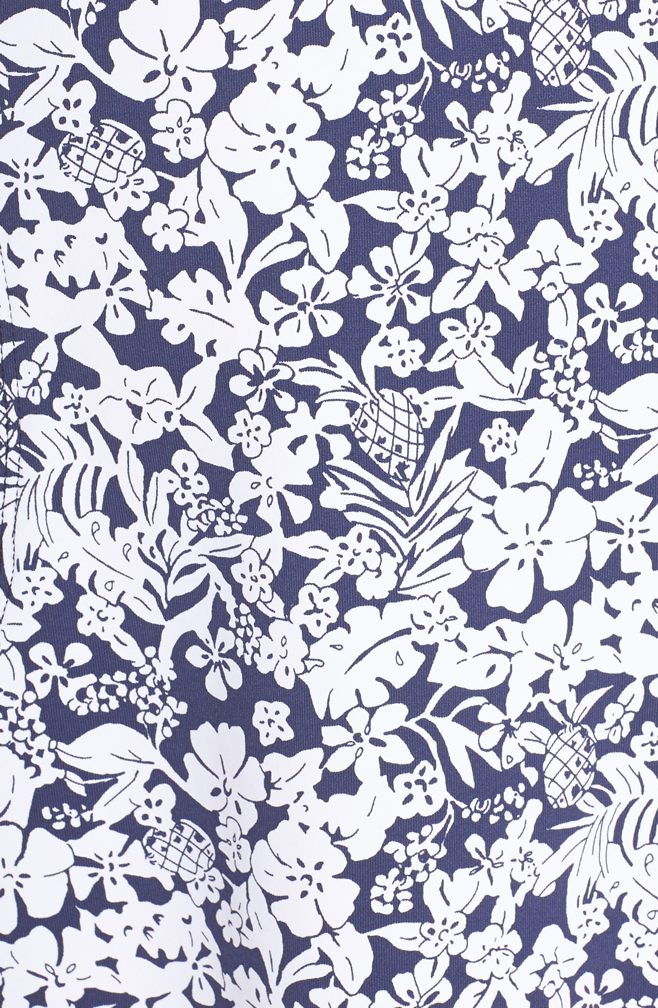 Riviera Tiles Cover-Up Dress,                             Alternate thumbnail 5, color,                             400