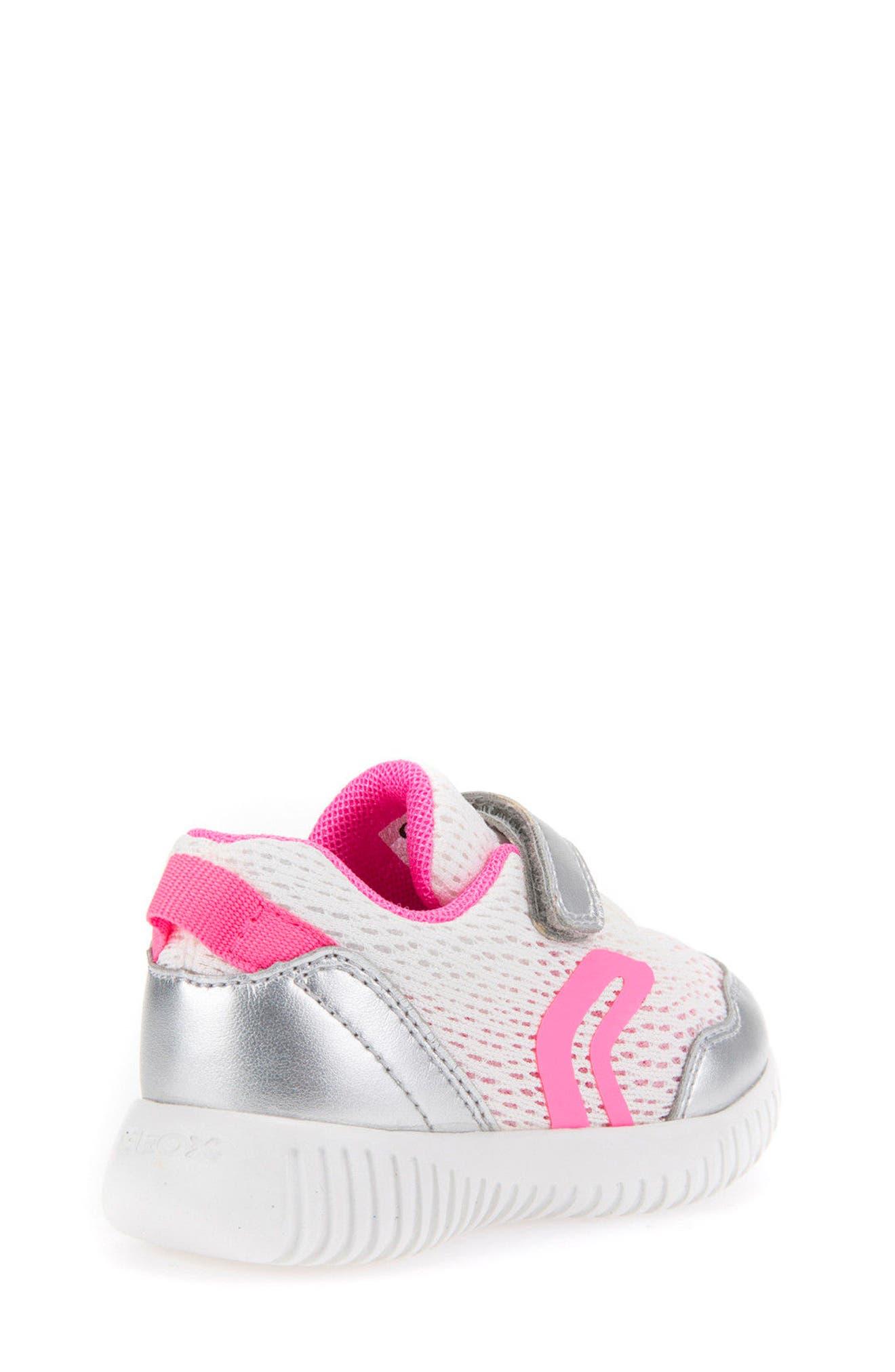 Waviness Sneaker,                             Alternate thumbnail 2, color,                             WHITE/ SILVER