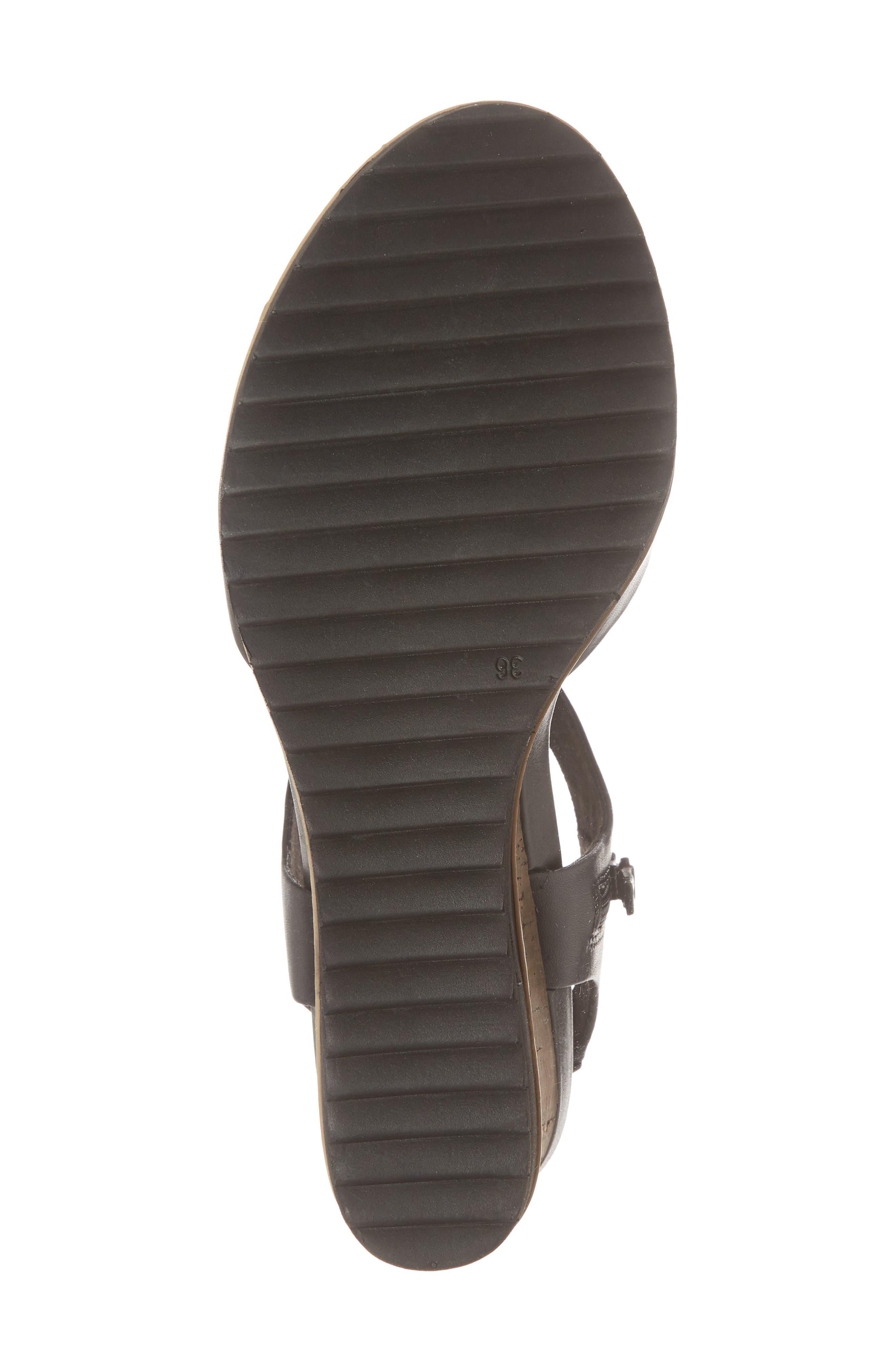 'Alis' Lug Sole Wedge Sandal,                             Alternate thumbnail 6, color,                             003