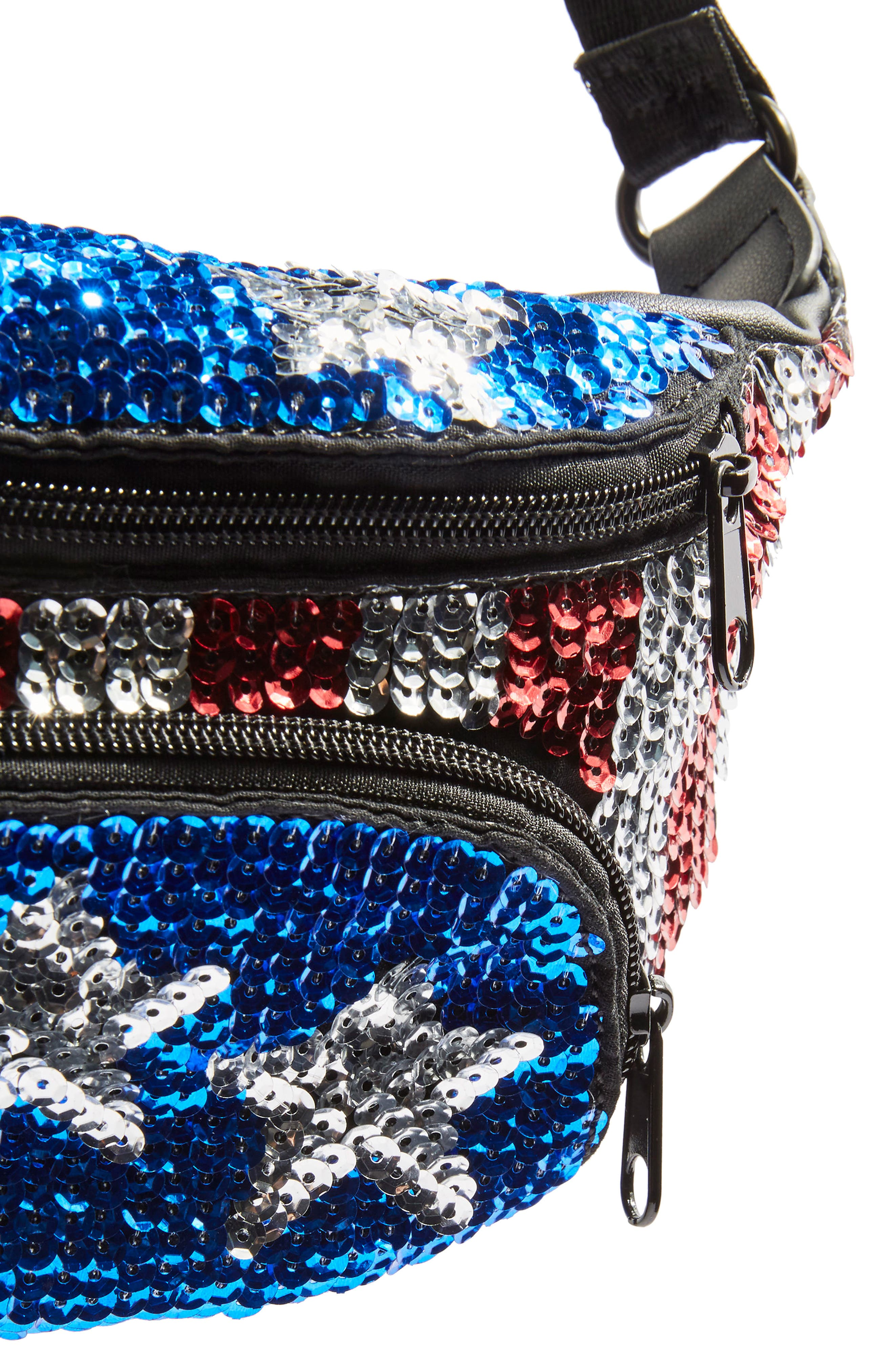 Florida Sequin Bum Bag,                             Alternate thumbnail 3, color,                             400