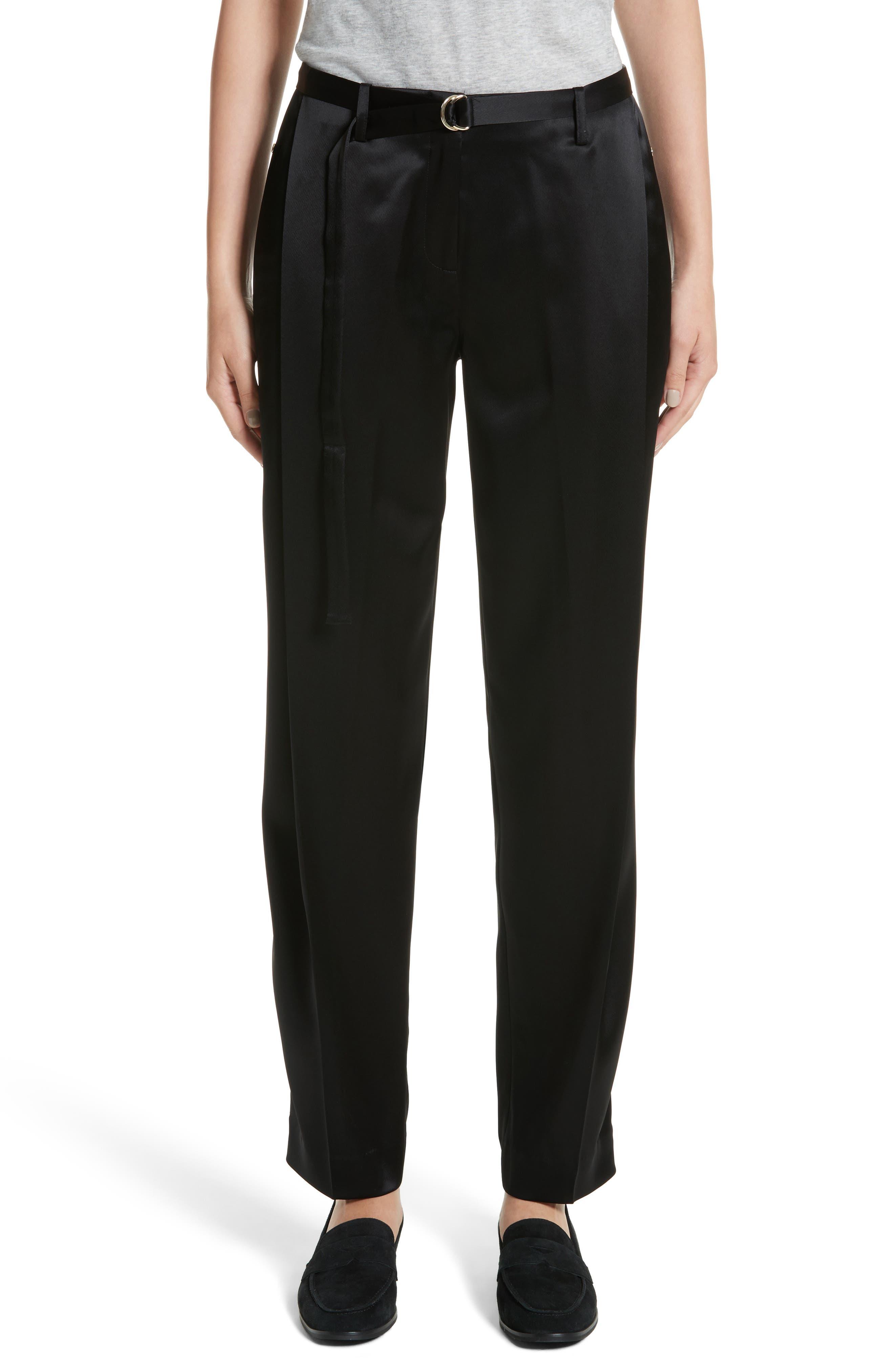 Nassau Reverie Satin Cloth Pants,                         Main,                         color, 001