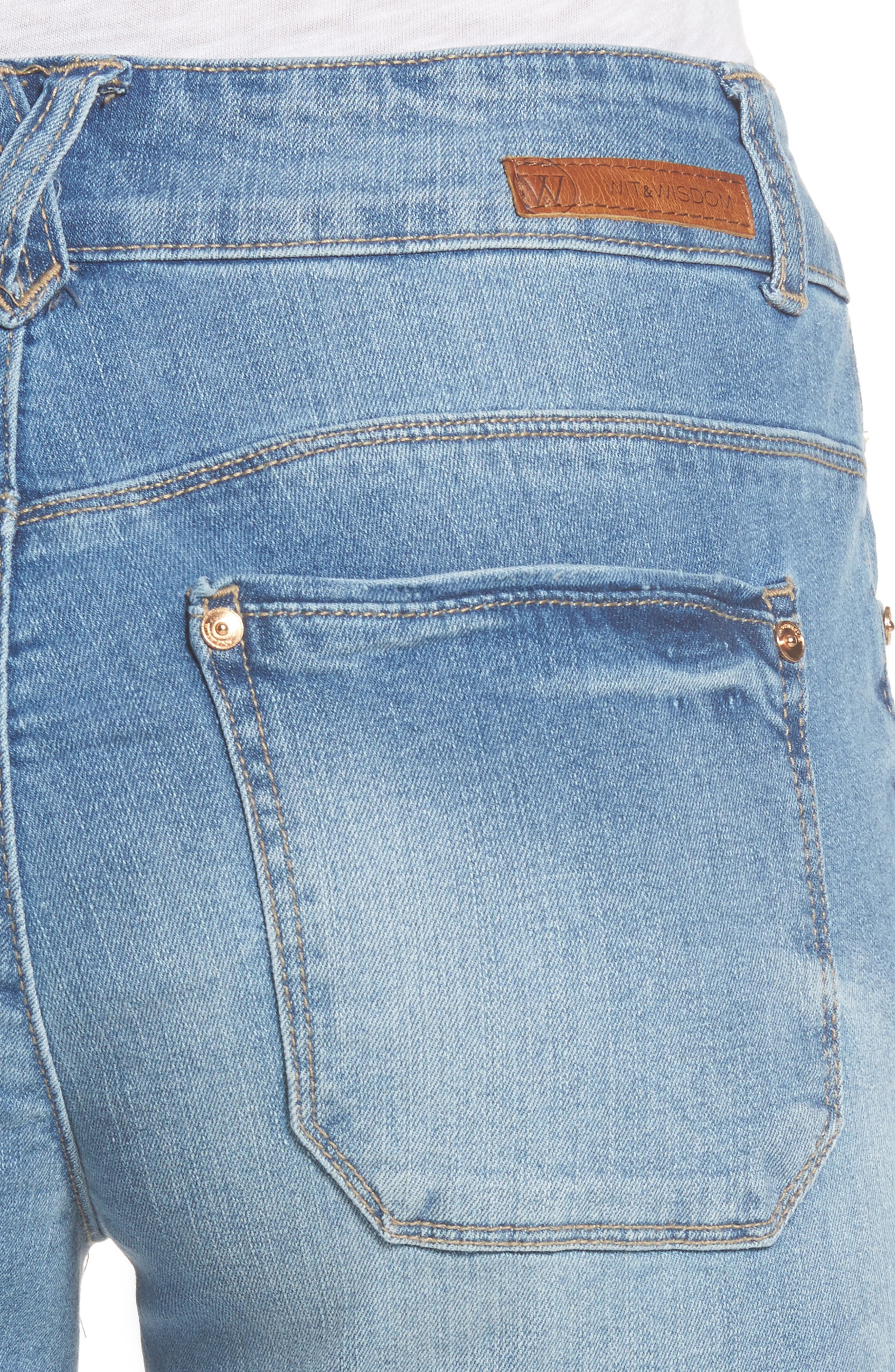 Two-Button High Waist Skinny Jeans,                             Alternate thumbnail 8, color,