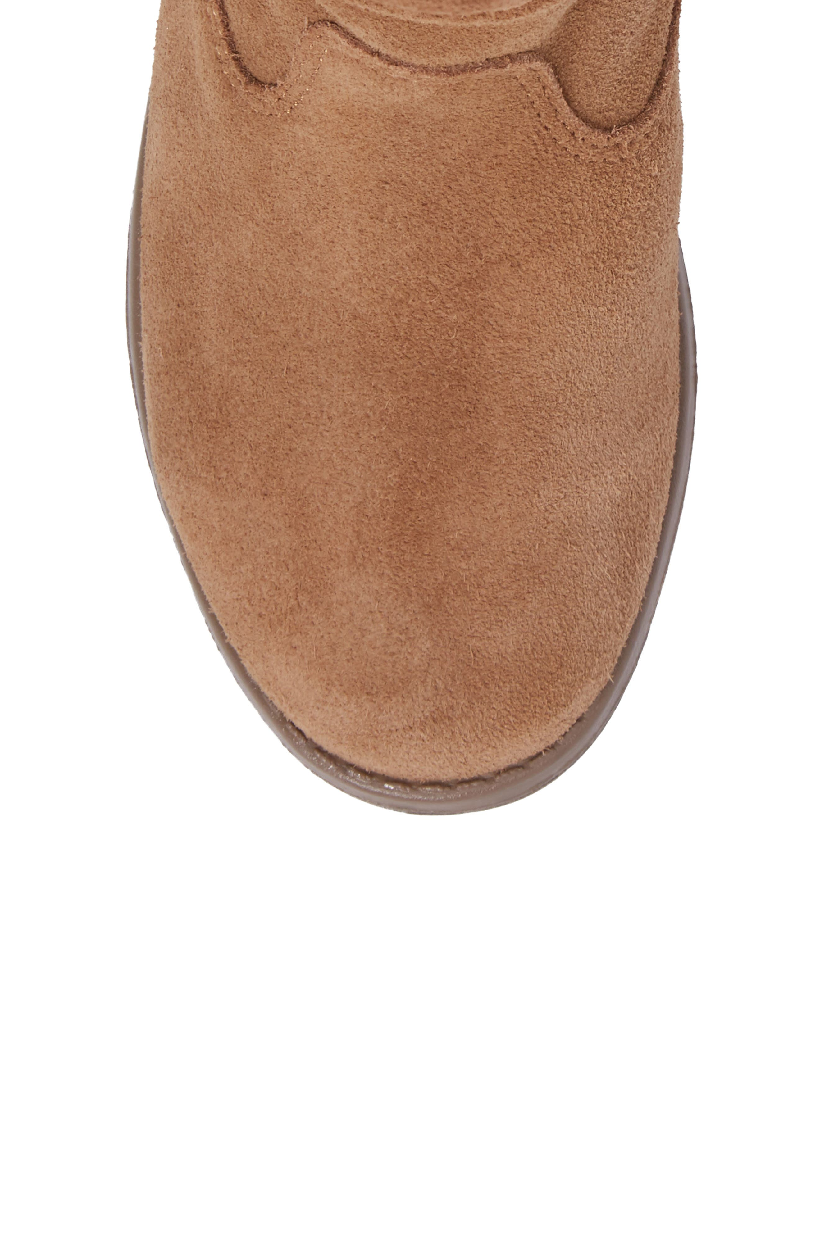 Laurel Slouchy Bootie,                             Alternate thumbnail 5, color,                             TOFFEE SUEDE