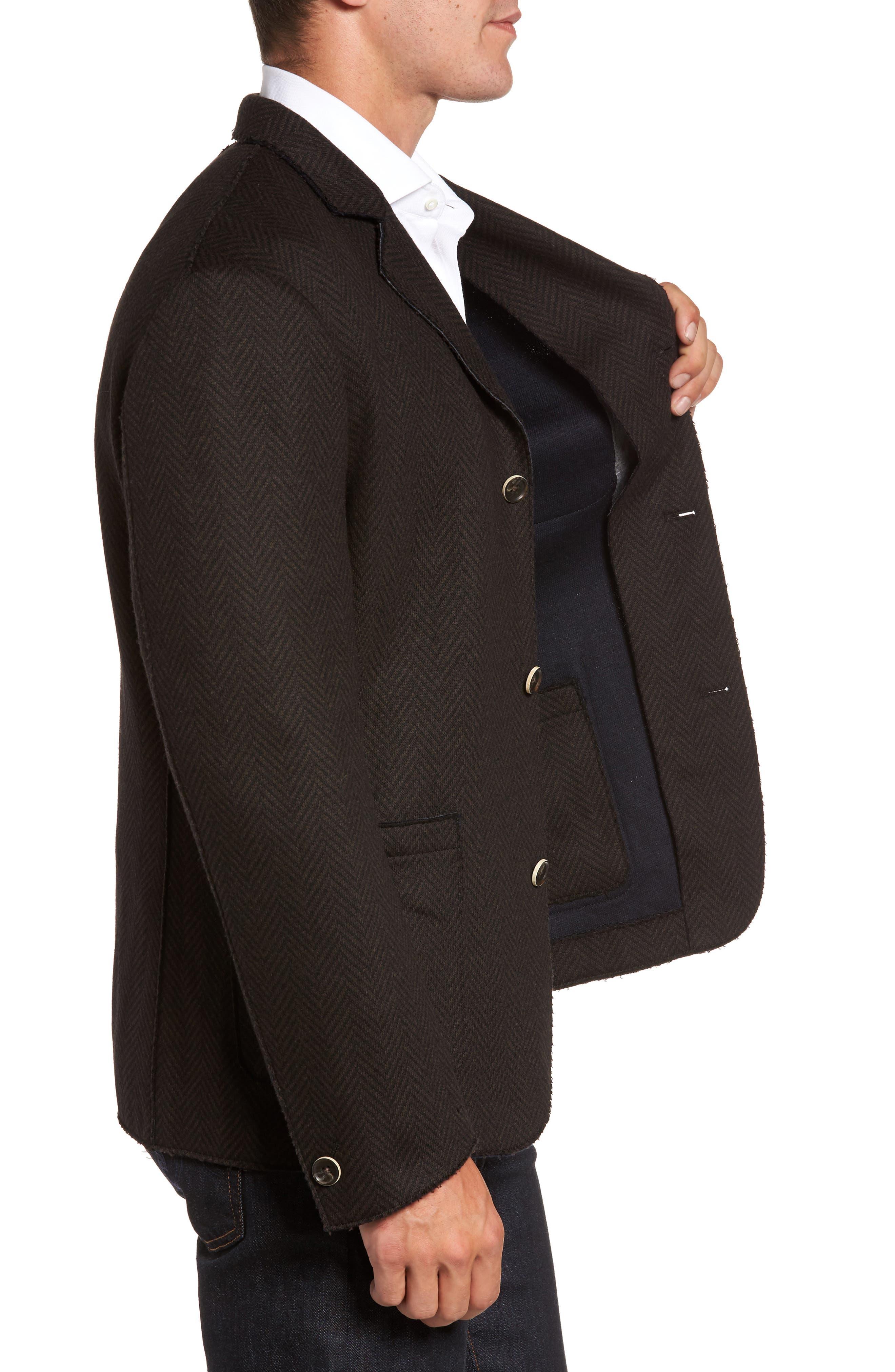 Laser Edge Wool Blend Jersey Sport Coat,                             Alternate thumbnail 3, color,                             201