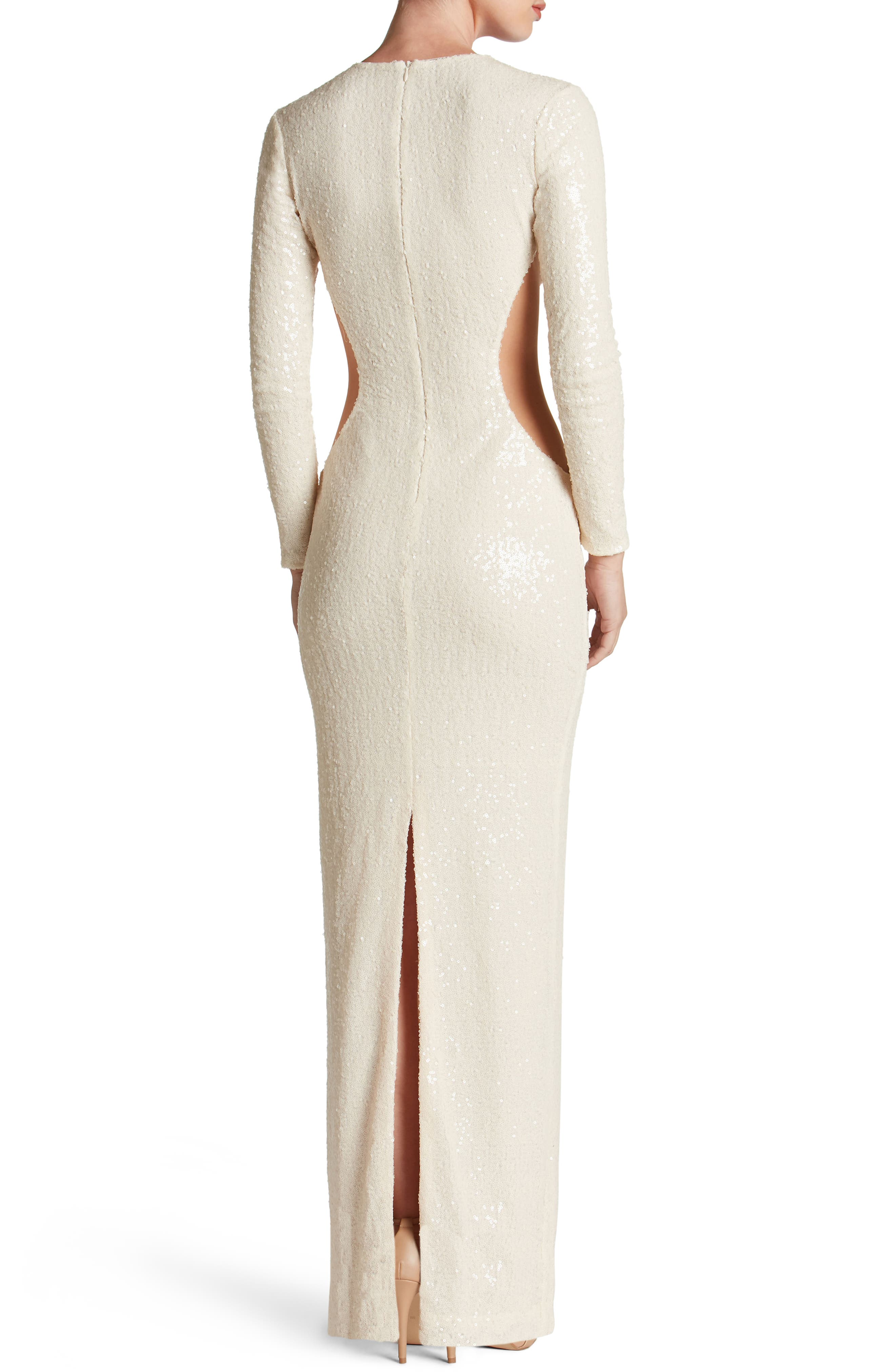Lara Body-Con Gown,                             Alternate thumbnail 7, color,