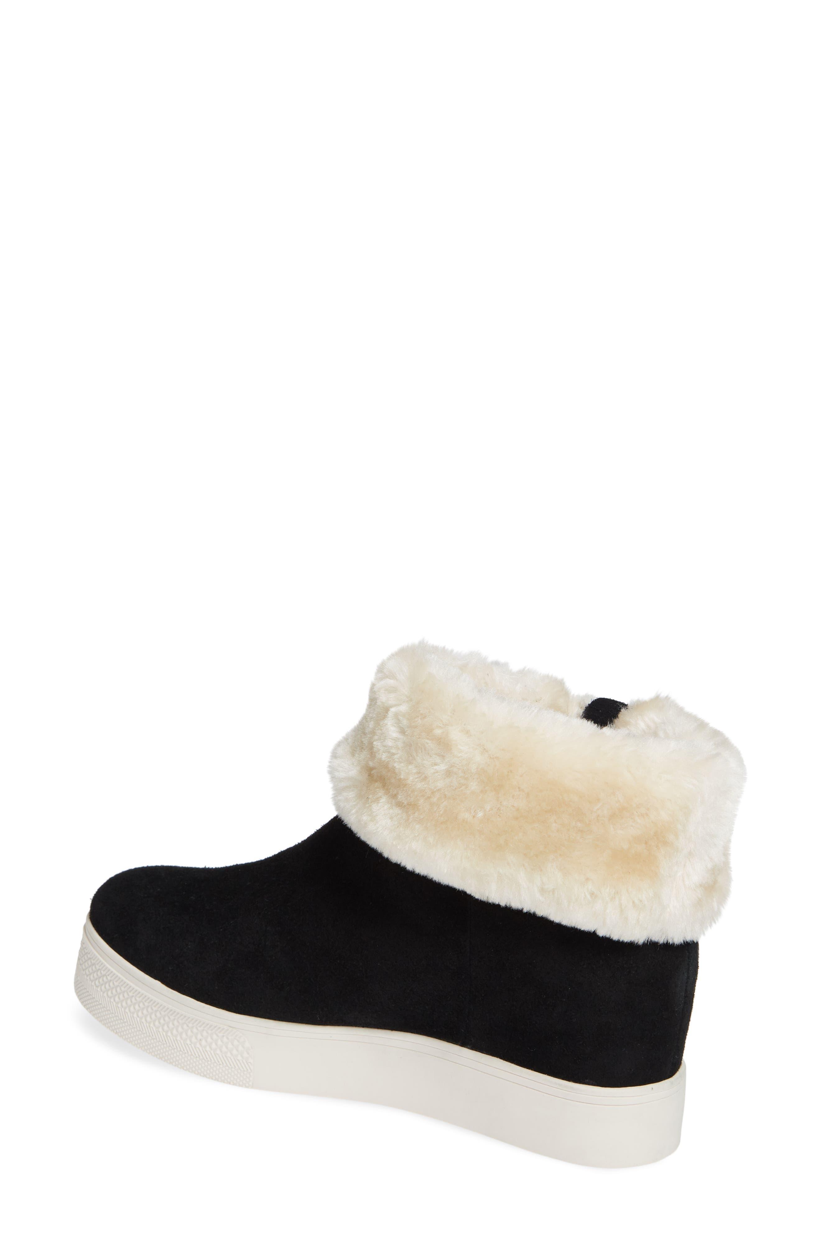 STEVE MADDEN,                             Faux Fur Lined Sneaker,                             Alternate thumbnail 2, color,                             006