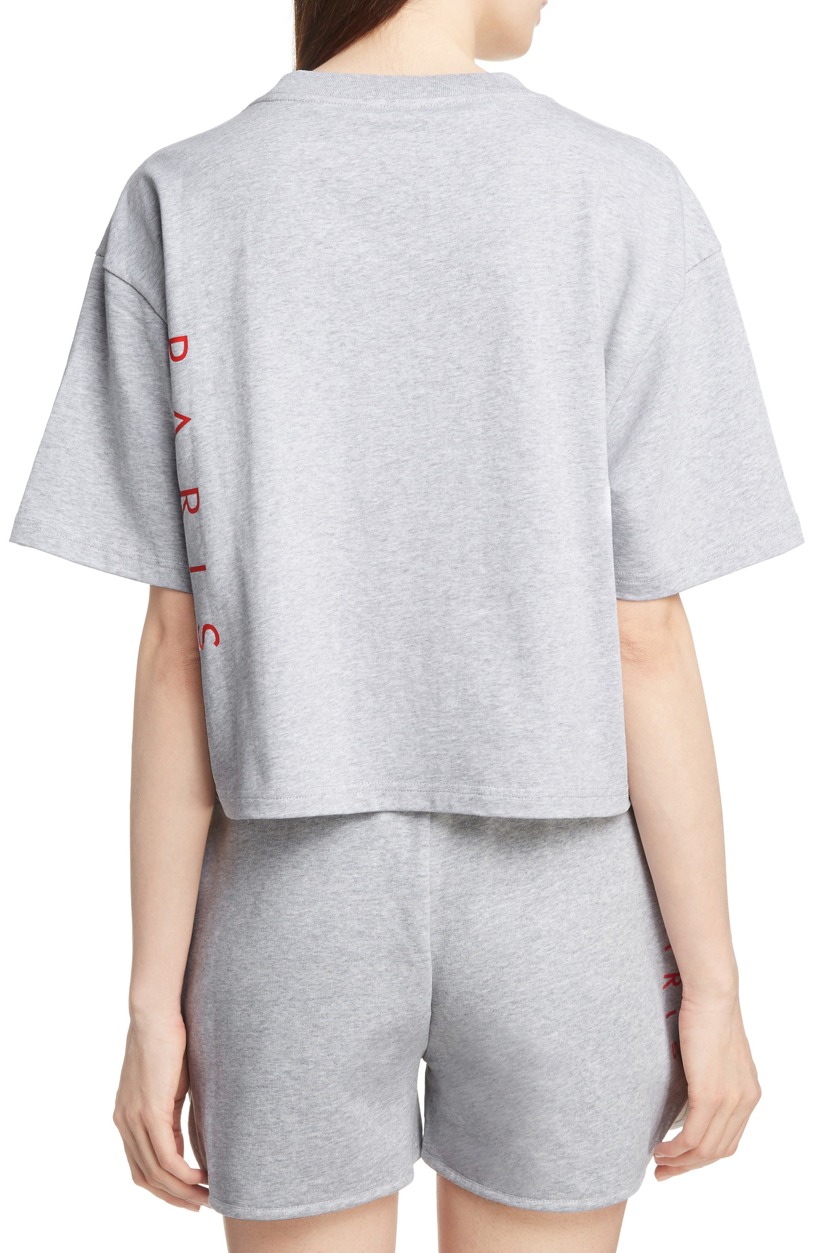 Sport Boxy Tee,                             Alternate thumbnail 2, color,                             PALE GREY
