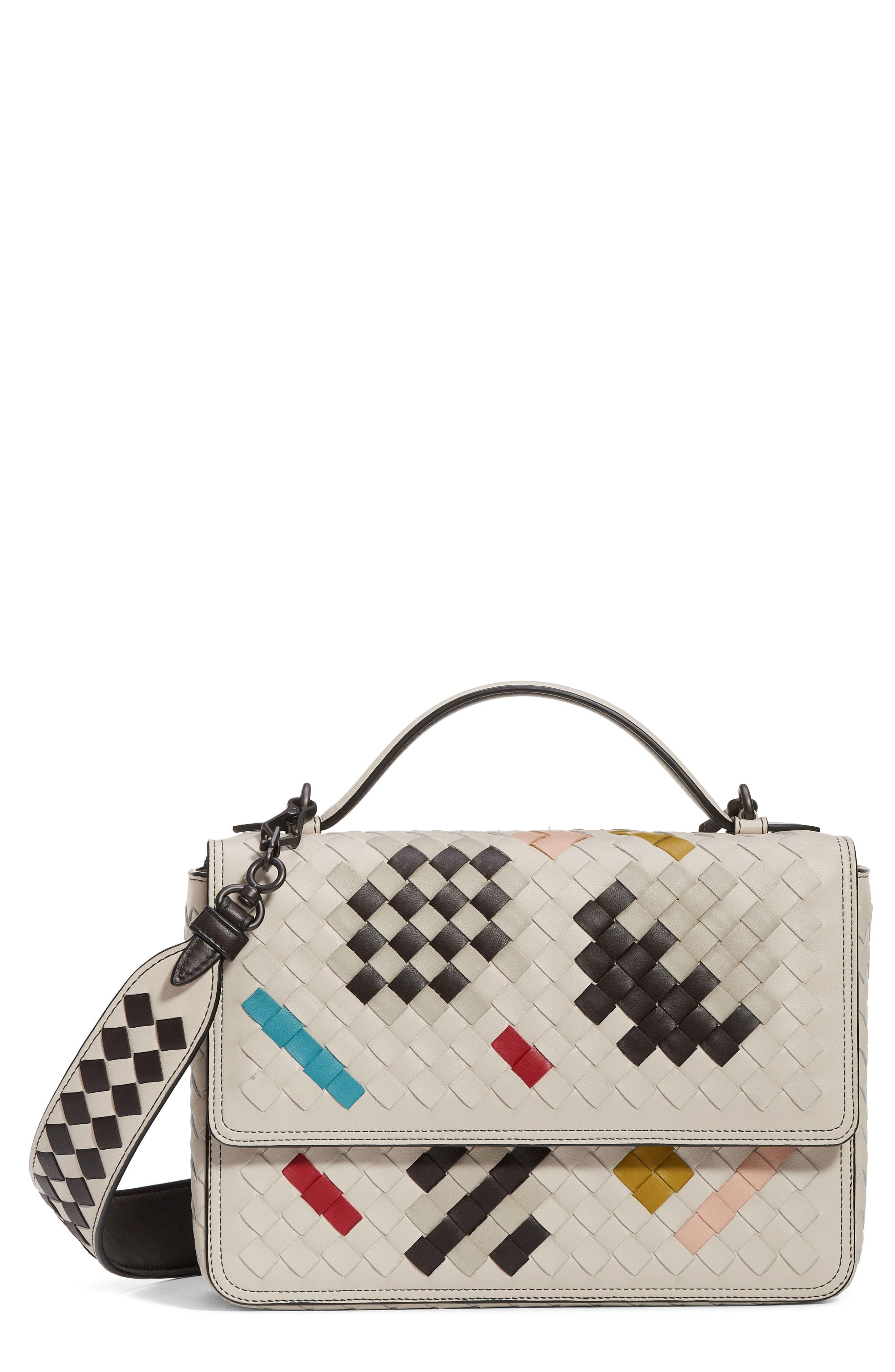 Alumna Leather Crossbody Bag, Main, color, 100