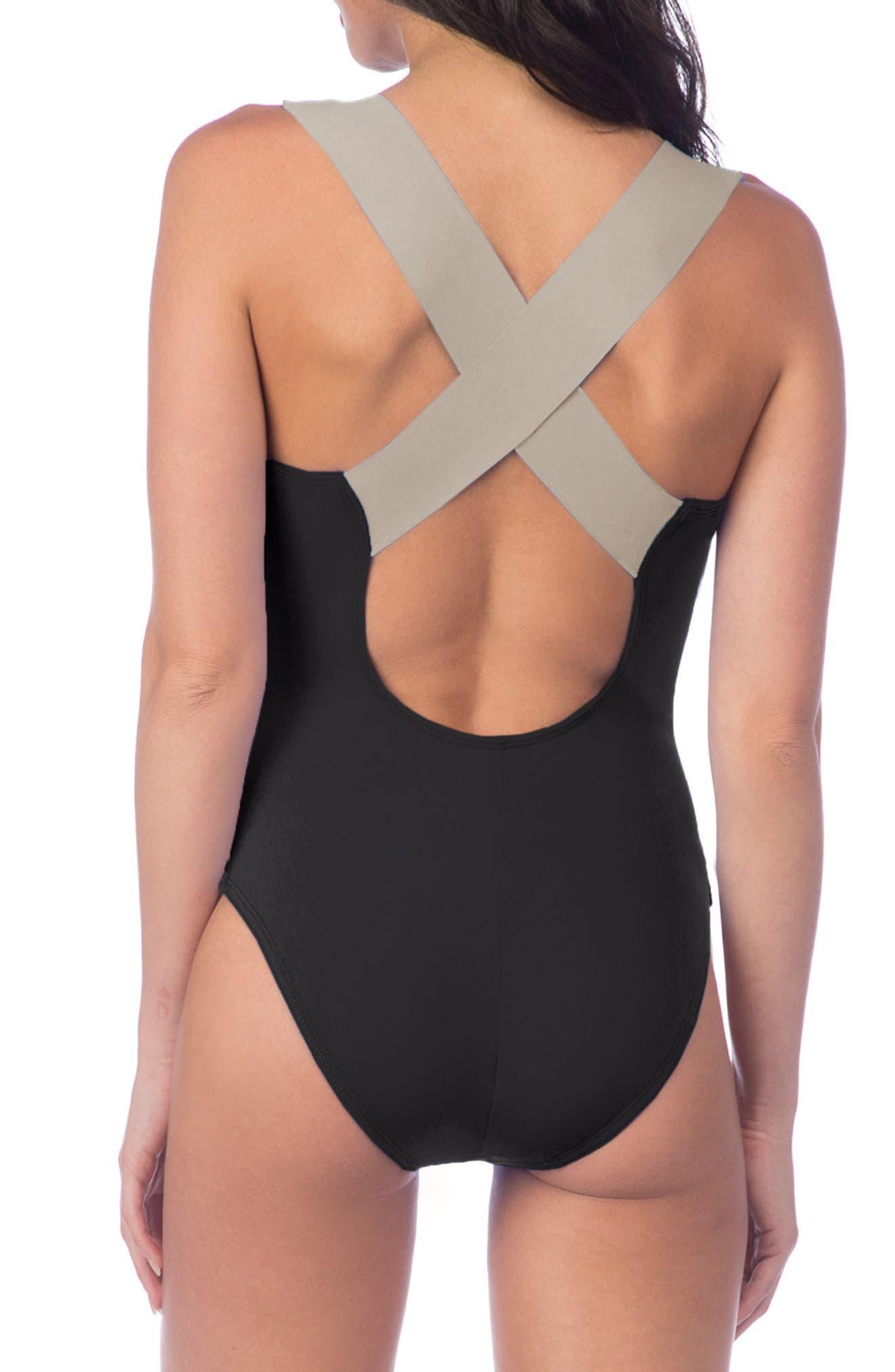 Bondage Cross Back Mio Convertible One-Piece Swimsuit,                             Alternate thumbnail 5, color,