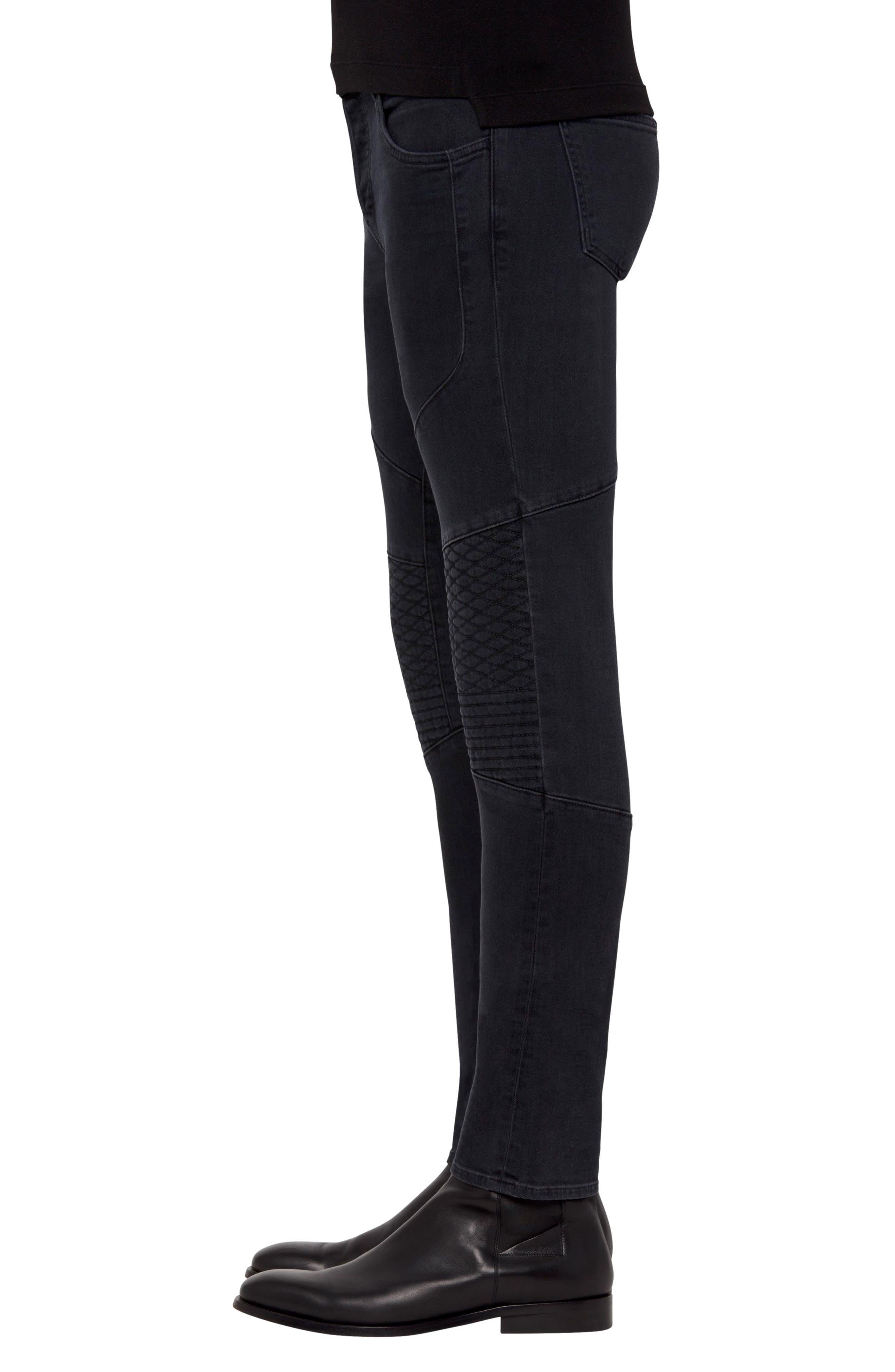 Bearden Moto Skinny Fit Jeans,                             Alternate thumbnail 3, color,                             002