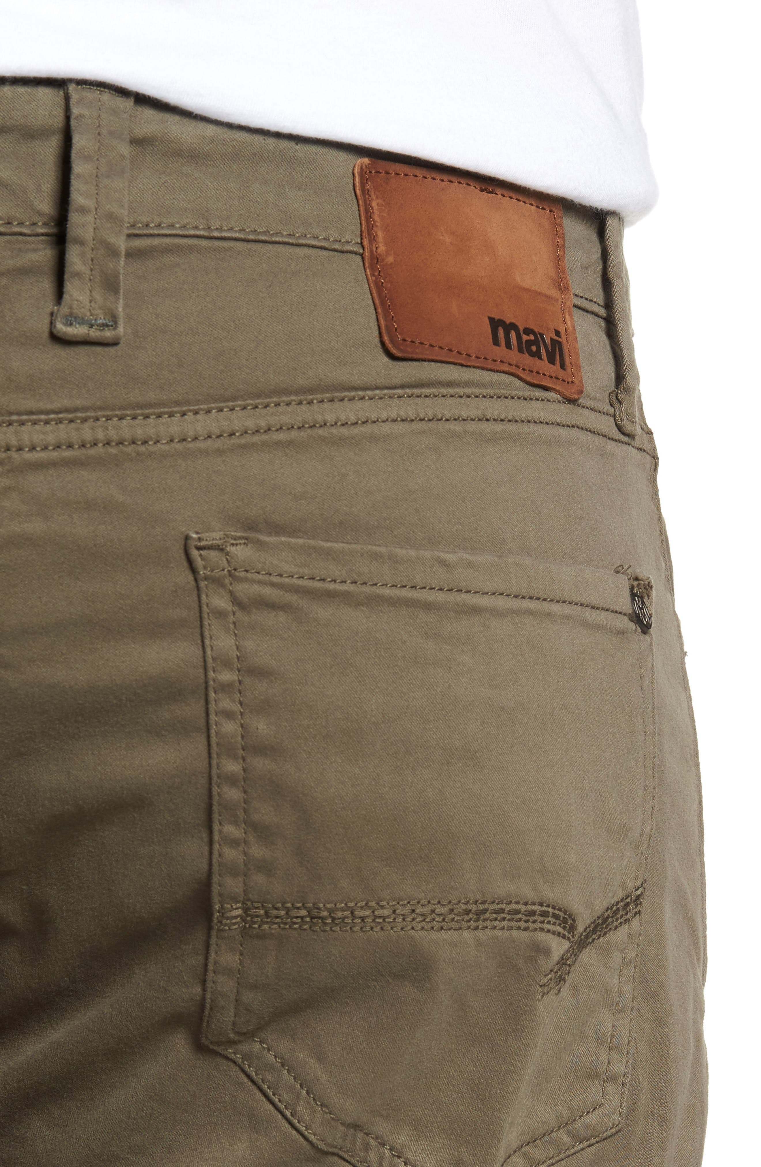 Zach Straight Fit Twill Pants,                             Alternate thumbnail 4, color,                             DUSTY OLIVE TWILL