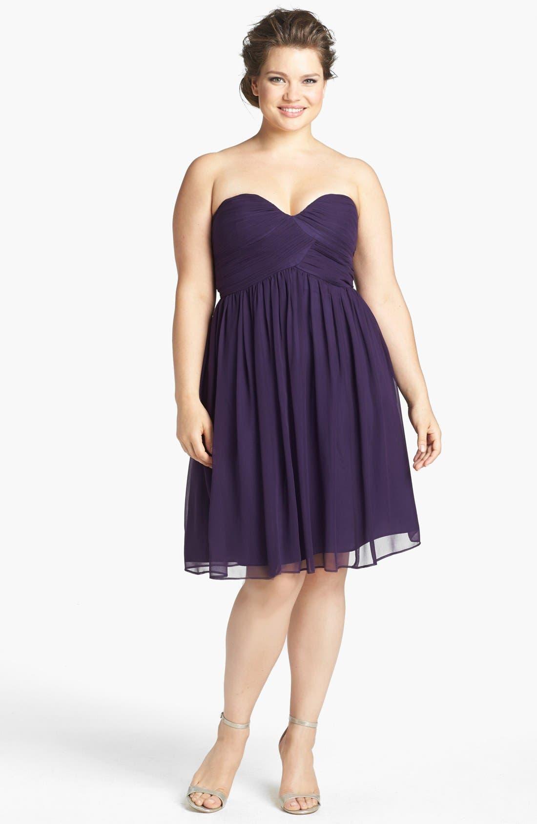 'Morgan' Strapless Silk Chiffon Dress,                             Alternate thumbnail 60, color,