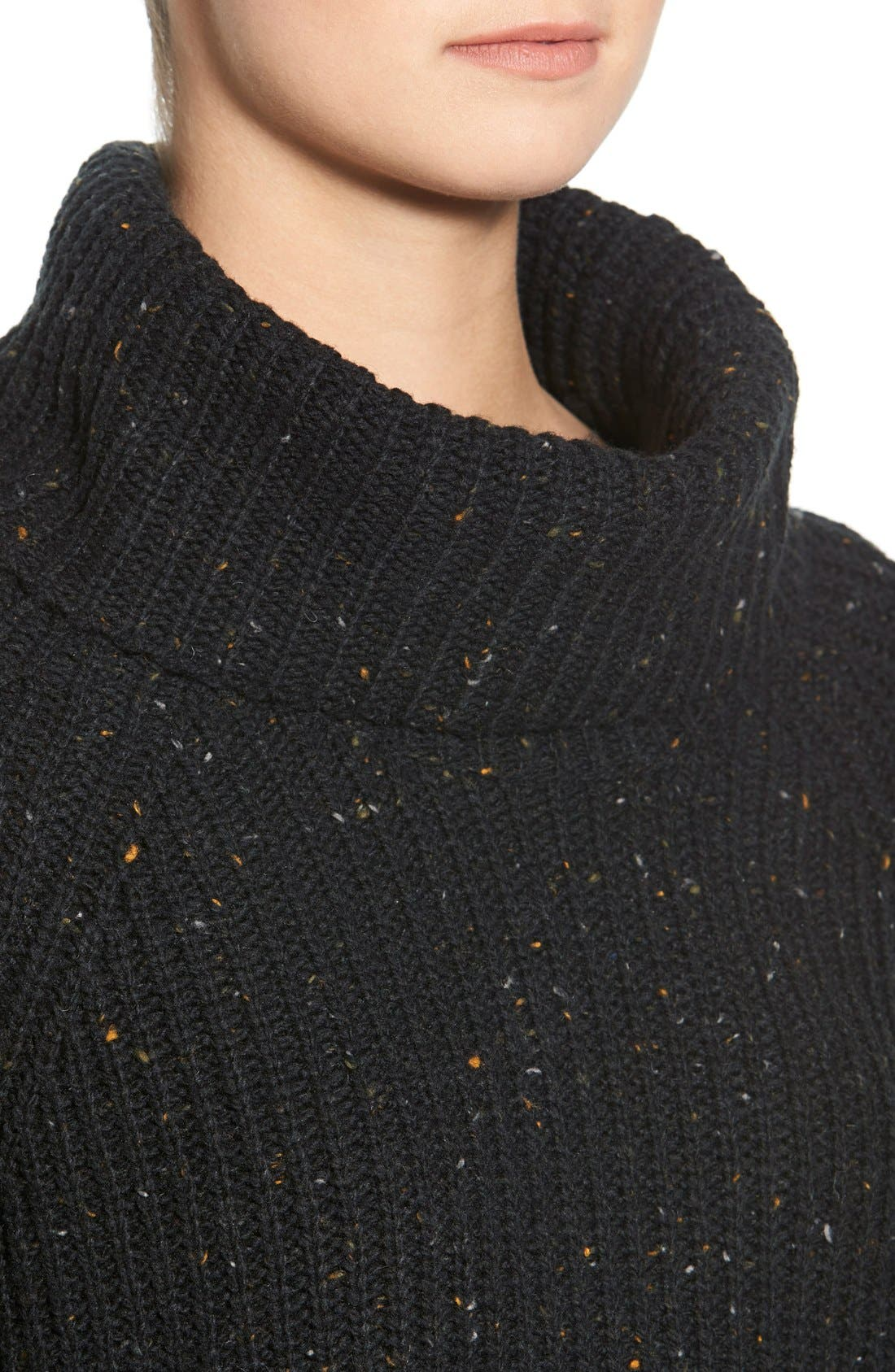 Turtleneck Sweater,                             Alternate thumbnail 3, color,                             001