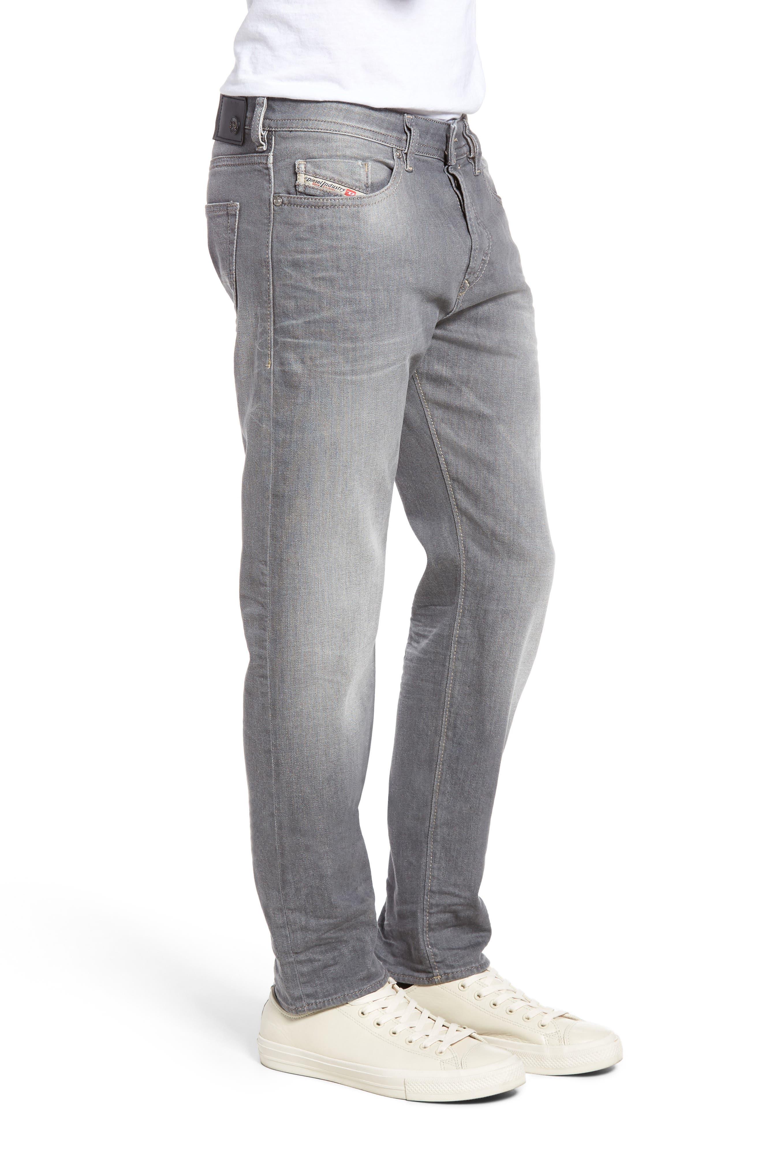 DIESEL Buster Slim Straight Leg Jeans,                             Alternate thumbnail 3, color,                             400