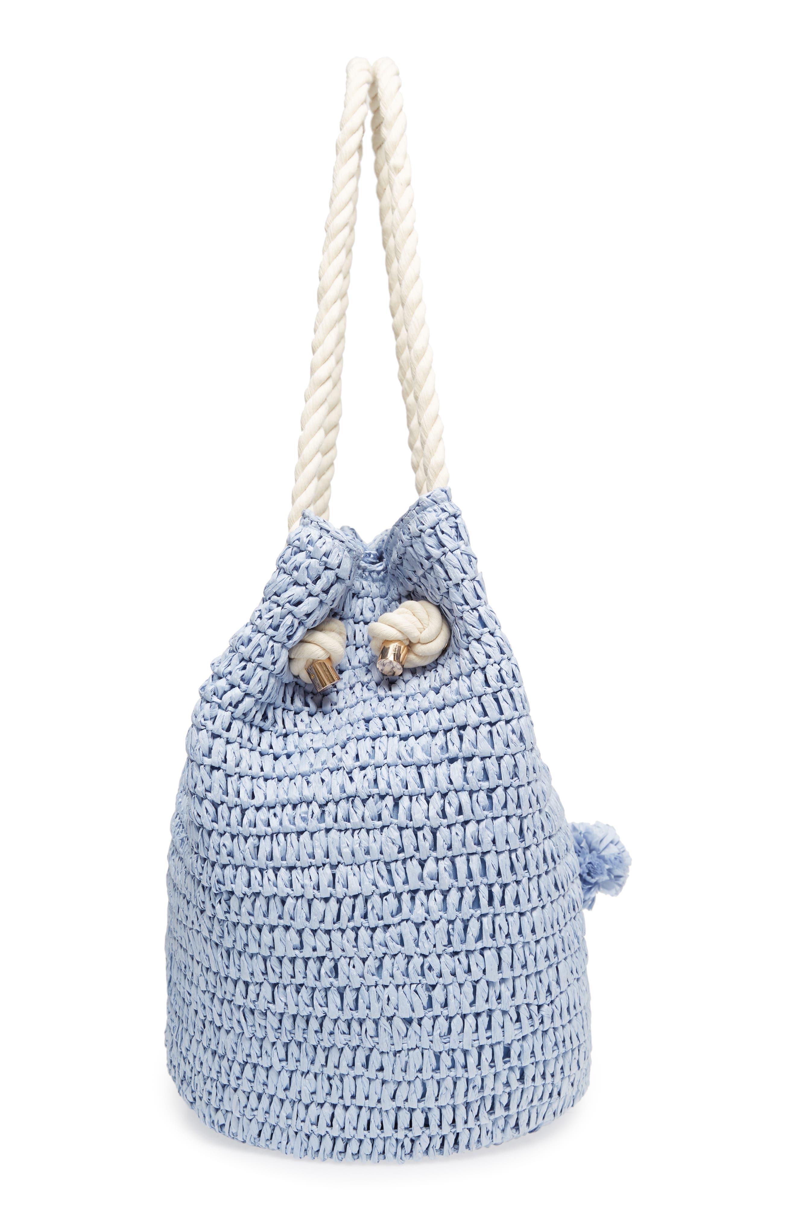 Mama Straw Bucket Bag,                             Alternate thumbnail 10, color,