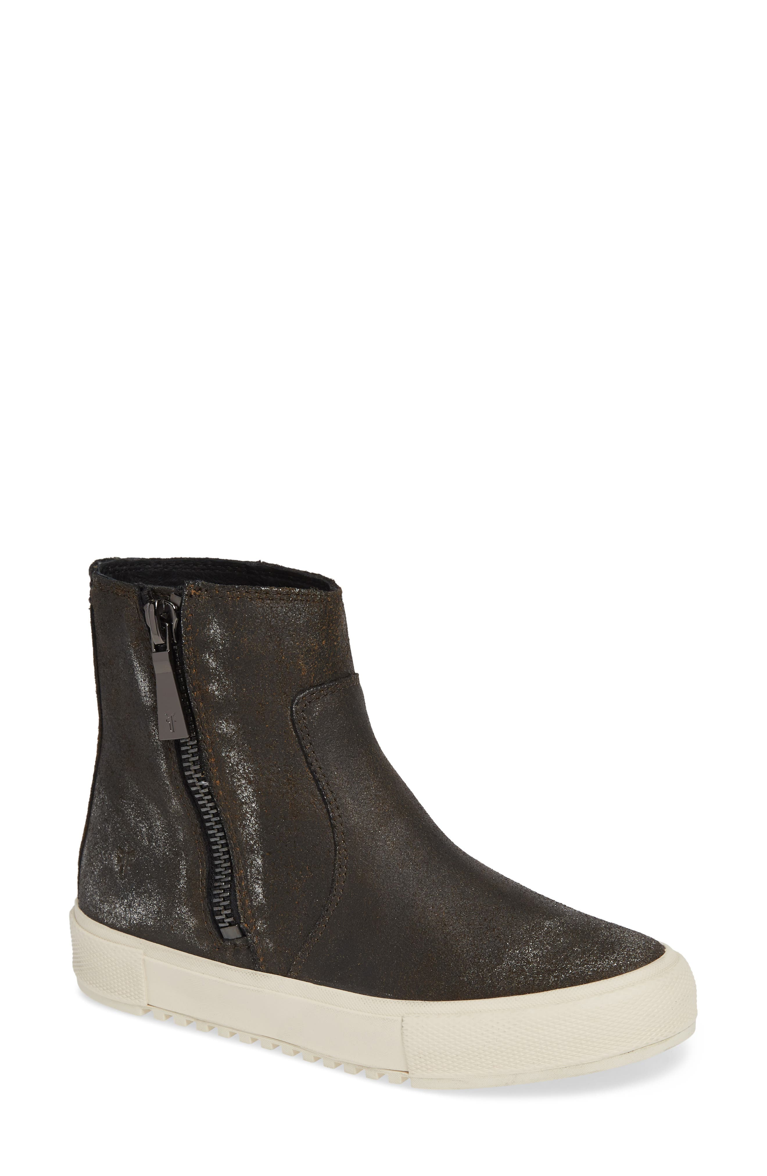 Gia Bootie,                             Main thumbnail 1, color,                             ANTHRACITE LEATHER