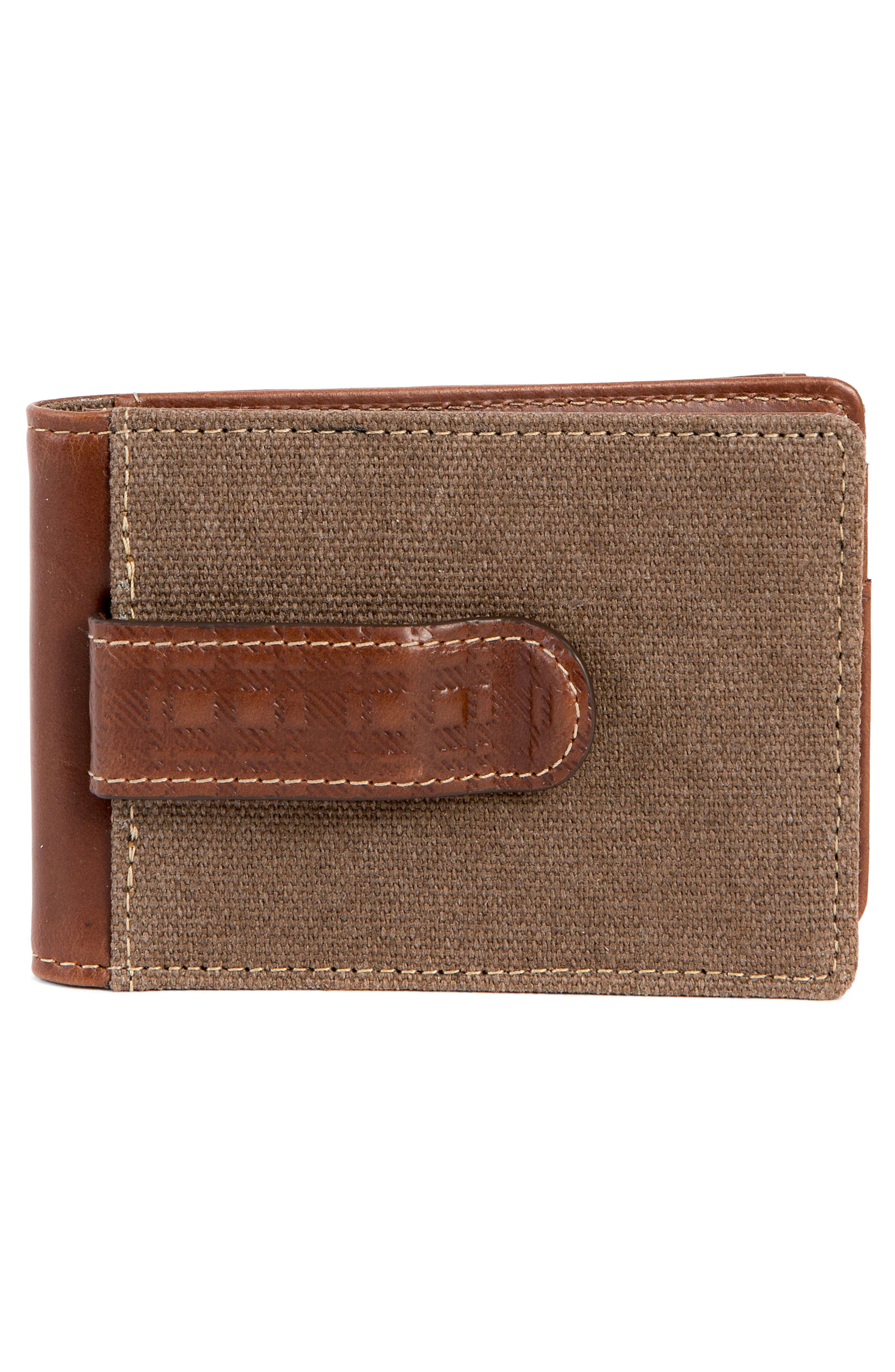 Bryant Bifold Money Clip Wallet,                             Alternate thumbnail 2, color,                             MAHOGANY/ HEATHER