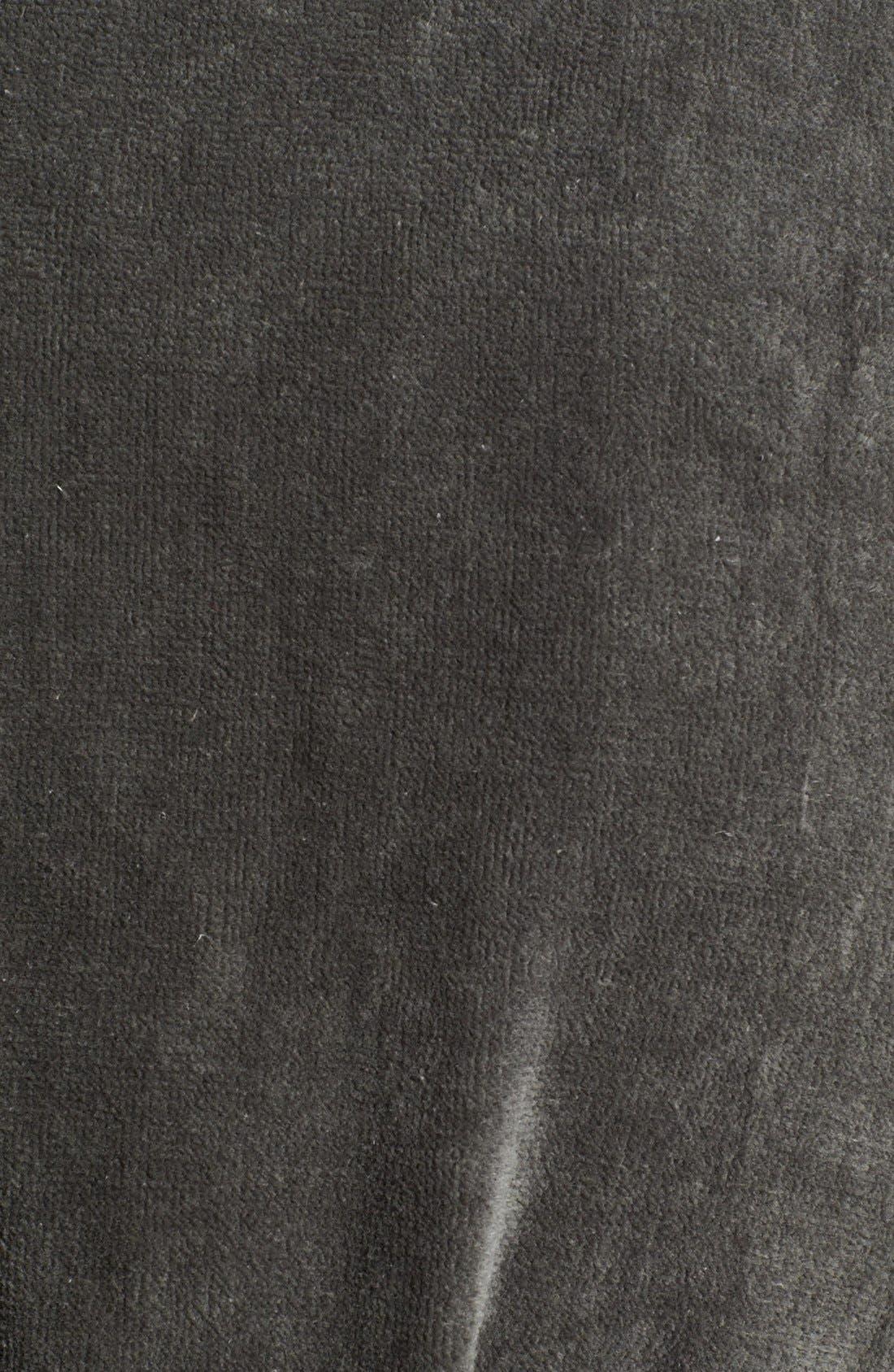 Cotton Fleece Robe,                             Alternate thumbnail 3, color,                             001