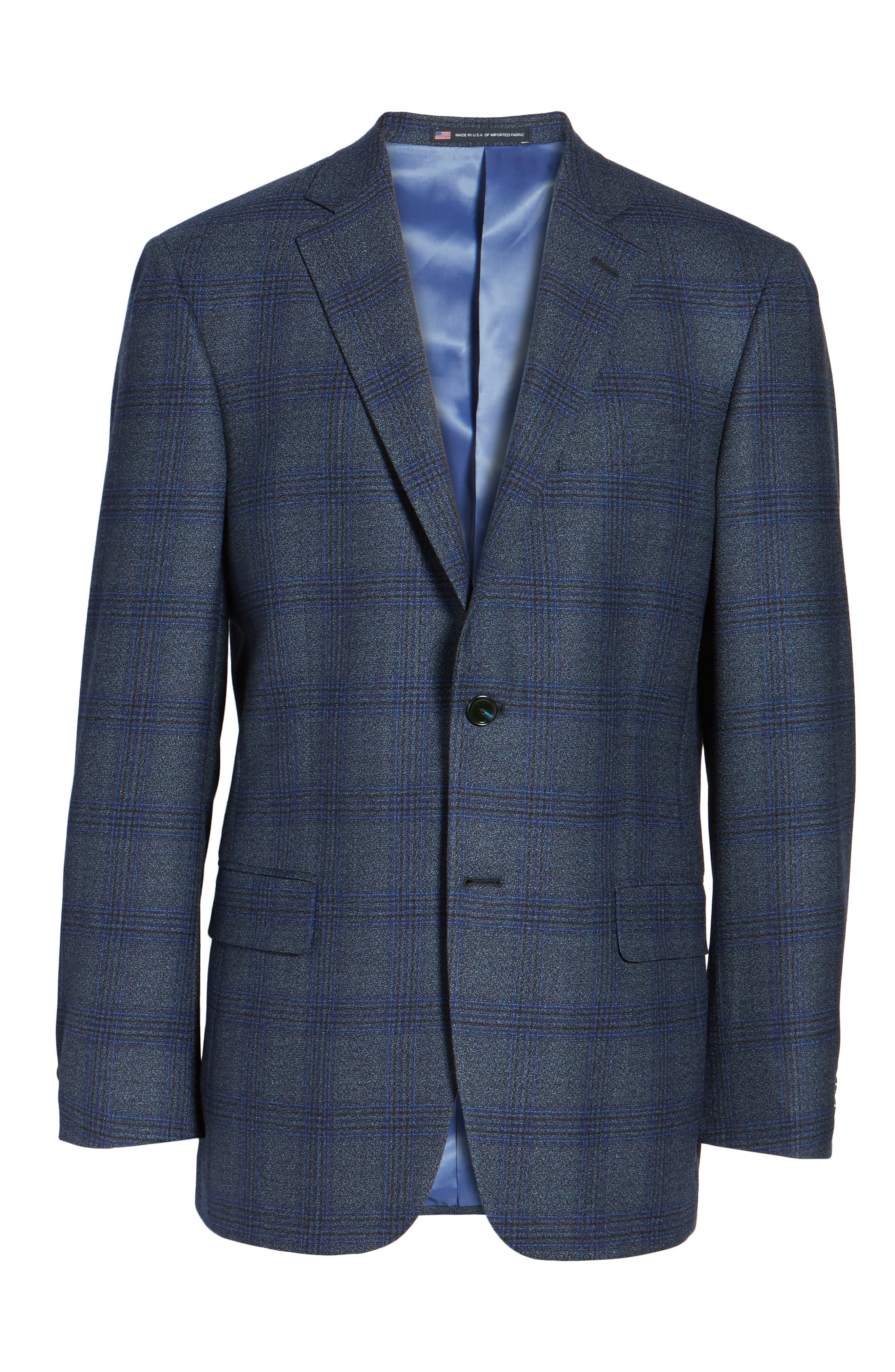 Classic Fit Plaid Wool Sport Coat,                             Alternate thumbnail 5, color,                             401