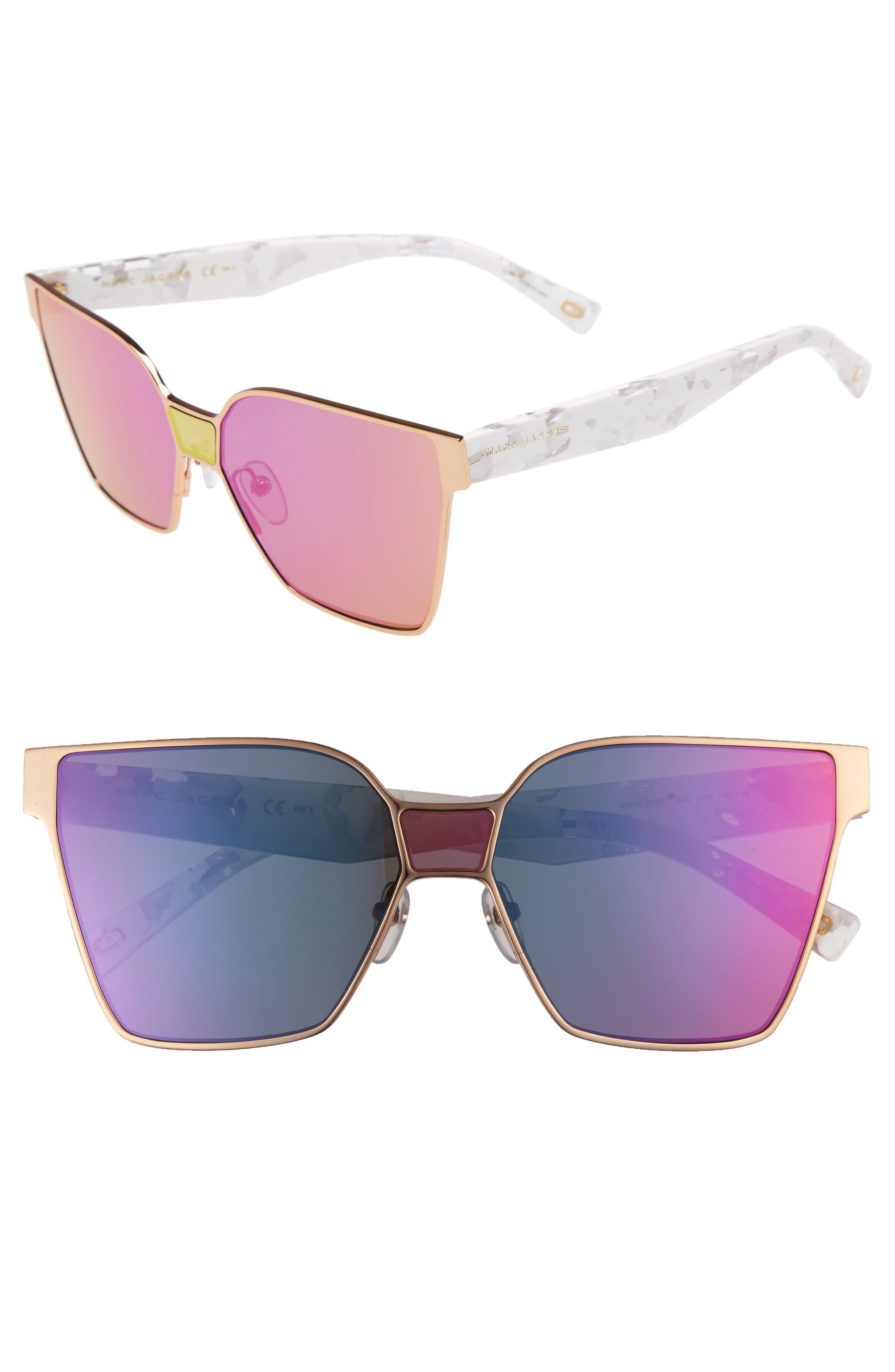 60mm Square Sunglasses,                             Main thumbnail 3, color,