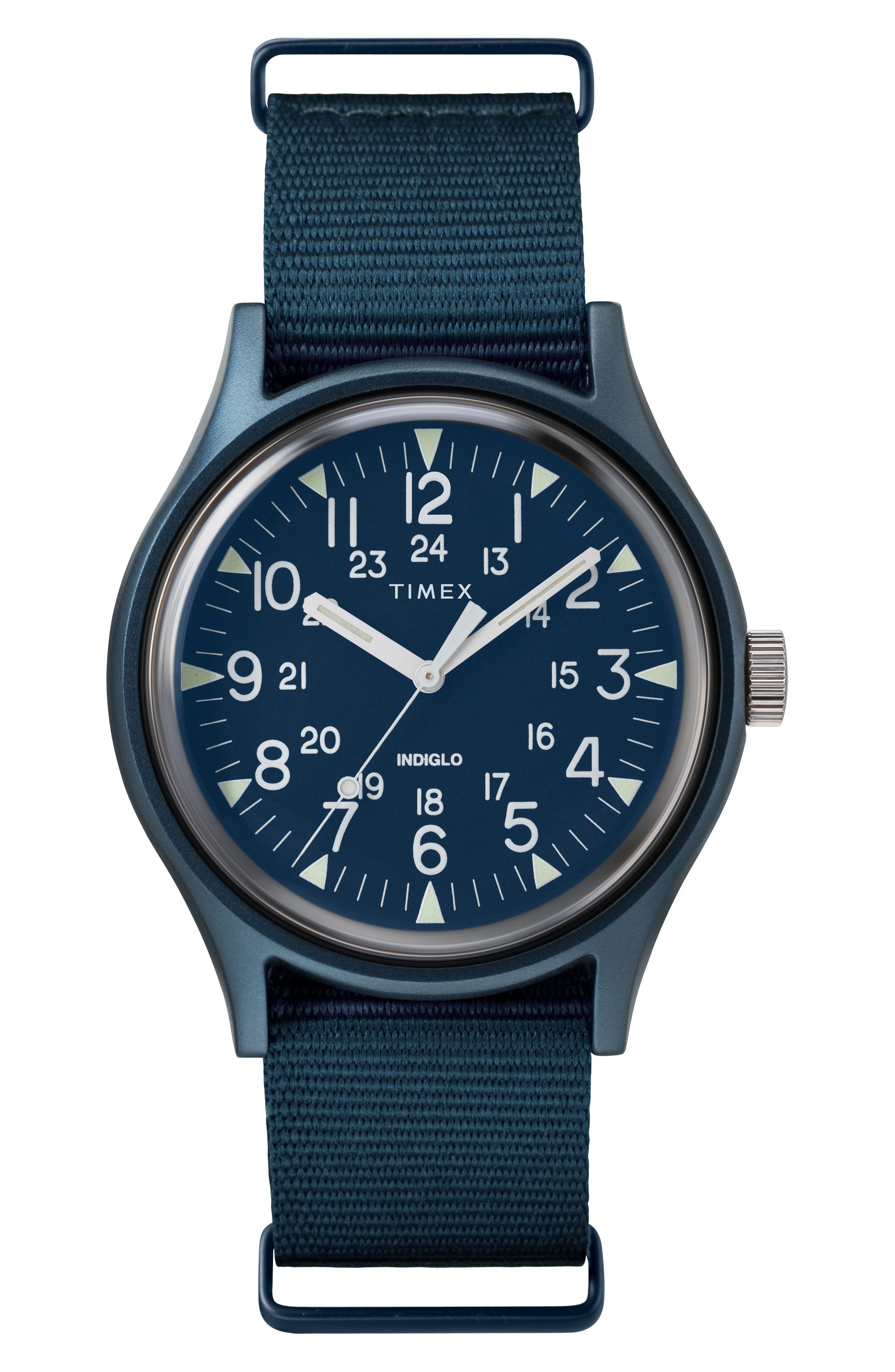 Timex MK1 Nylon Strap Watch, 40mm,                             Main thumbnail 1, color,                             BLUE