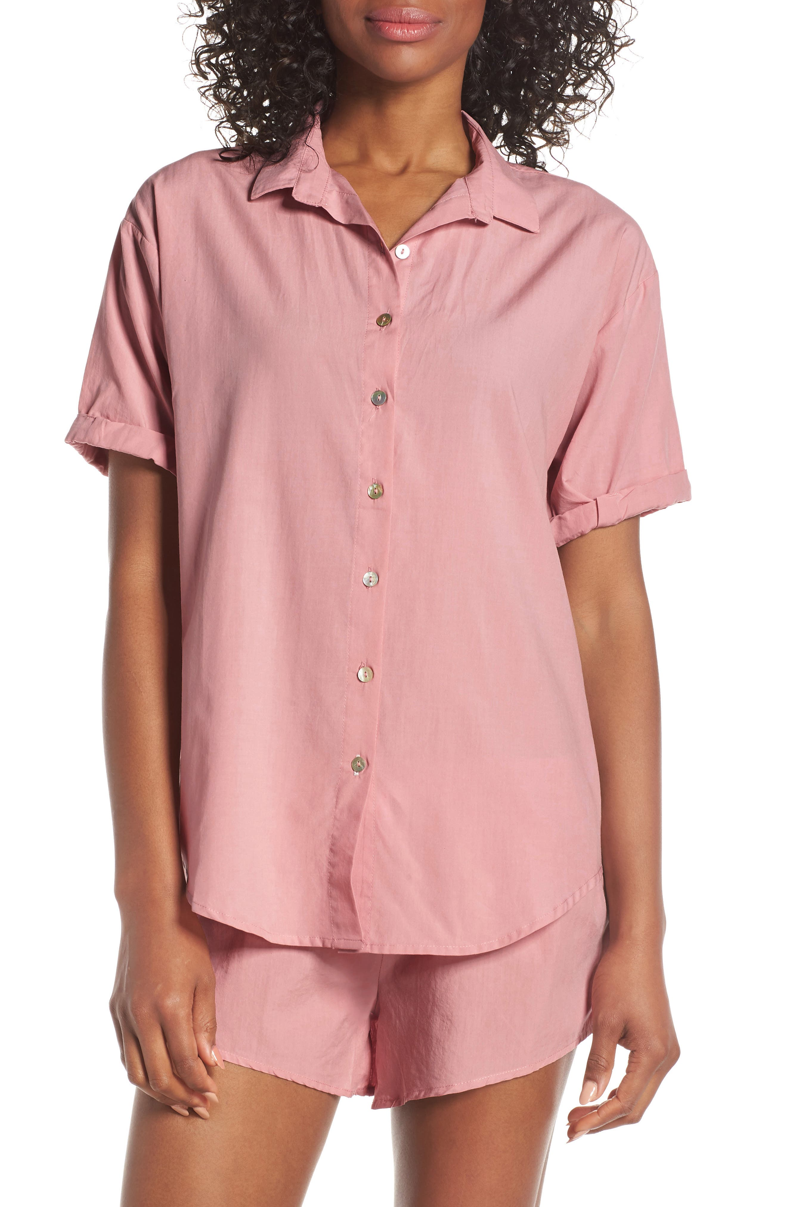 Papinelle Whale Beach Pajama Top, Pink