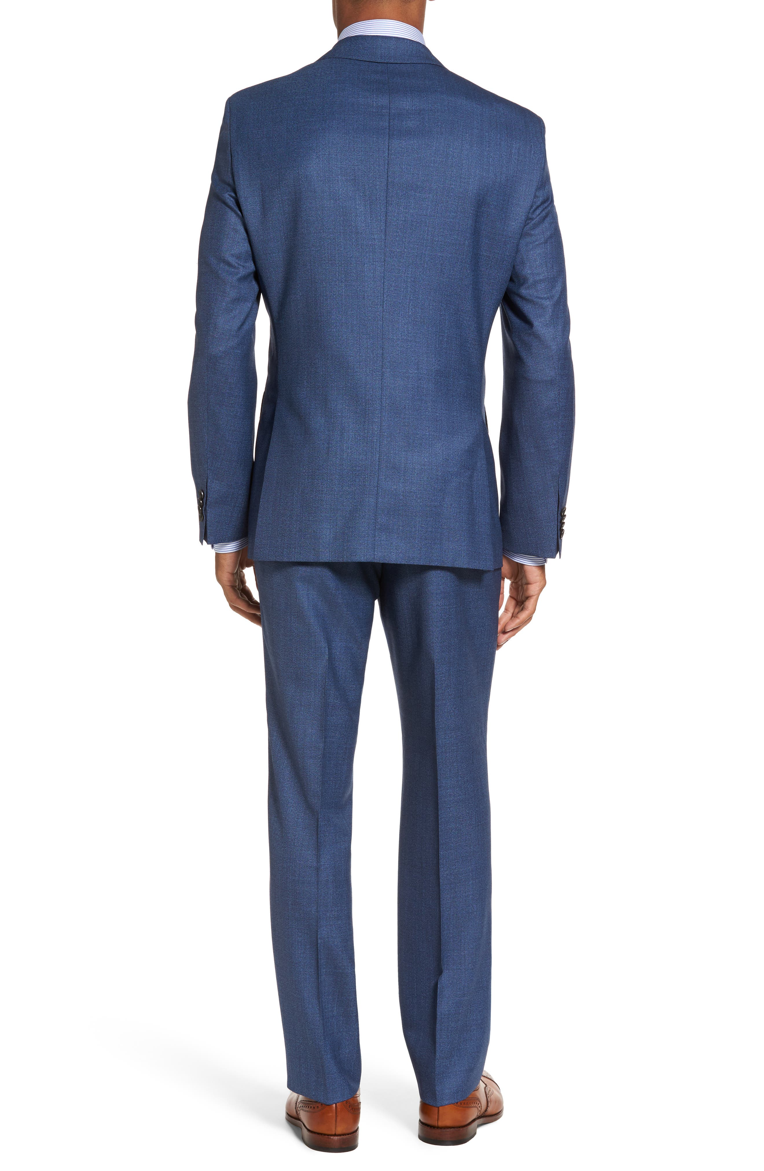 Johnstons/Lenon Classic Fit Solid Wool Suit,                             Alternate thumbnail 2, color,                             421