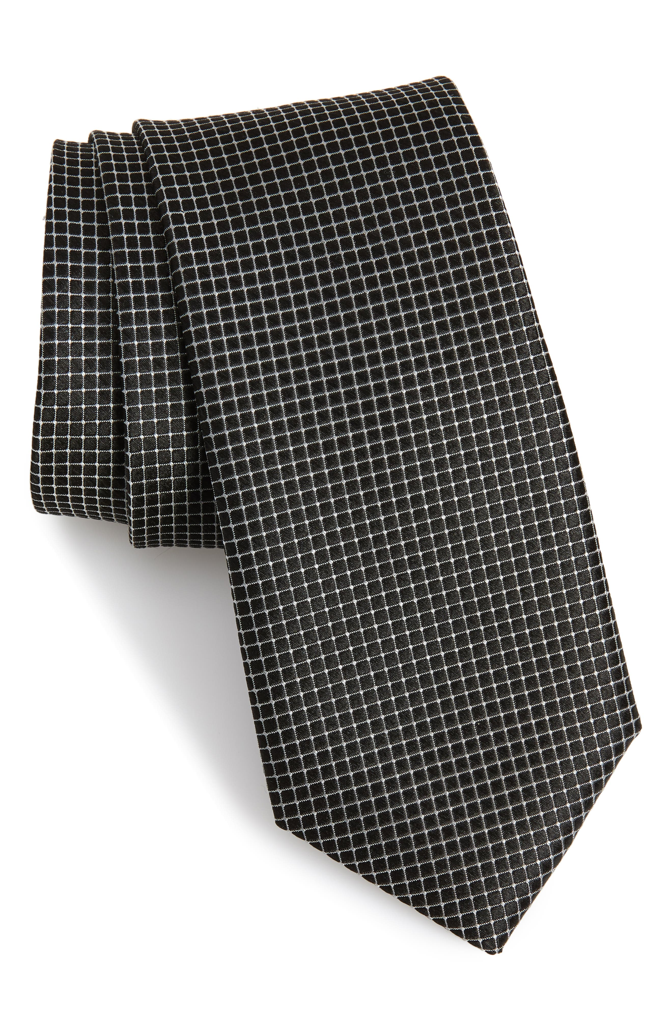 Kensington Check Silk Tie,                             Main thumbnail 1, color,                             001