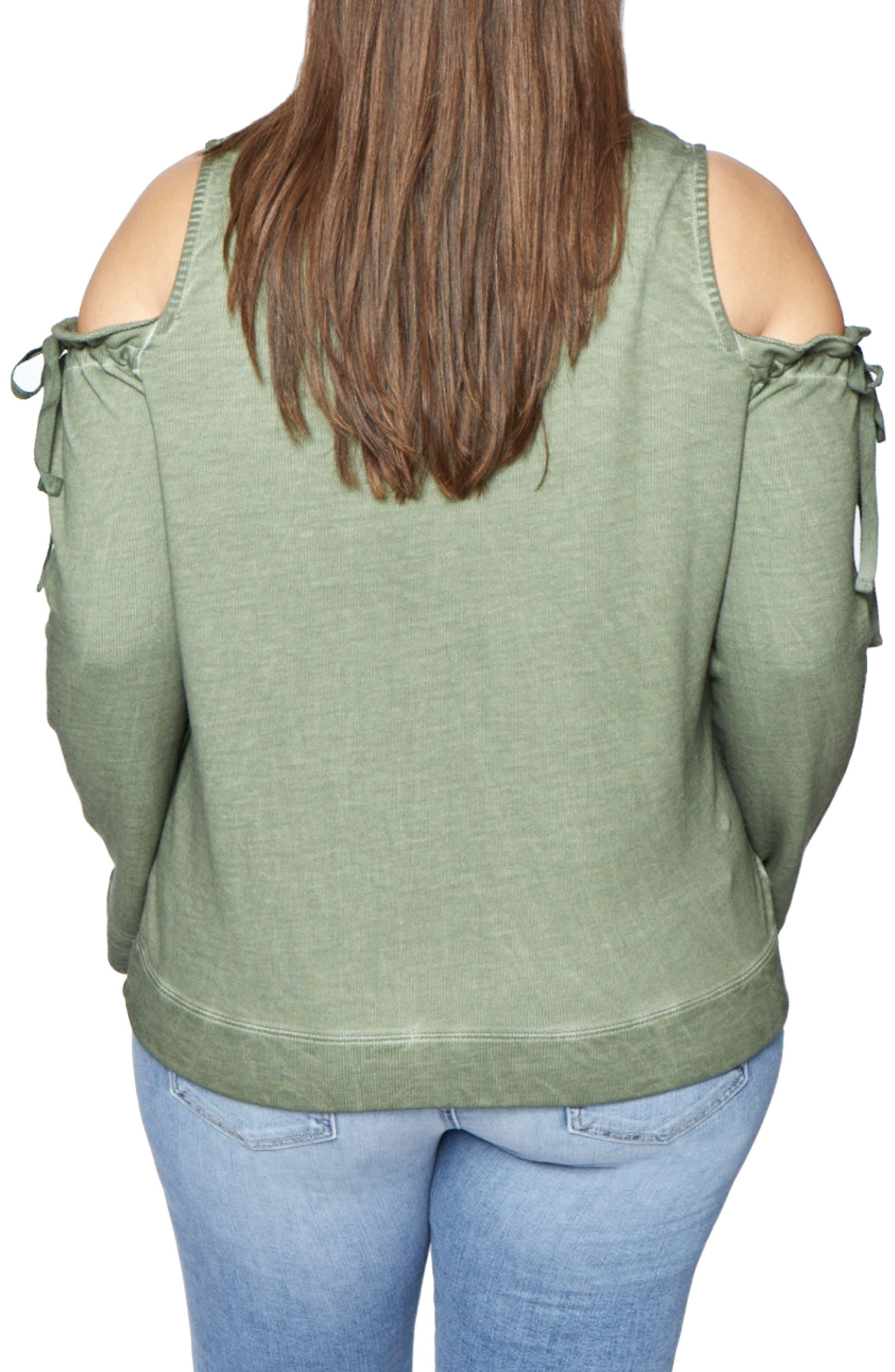 Parkside Cold Shoulder Sweatshirt,                             Alternate thumbnail 4, color,